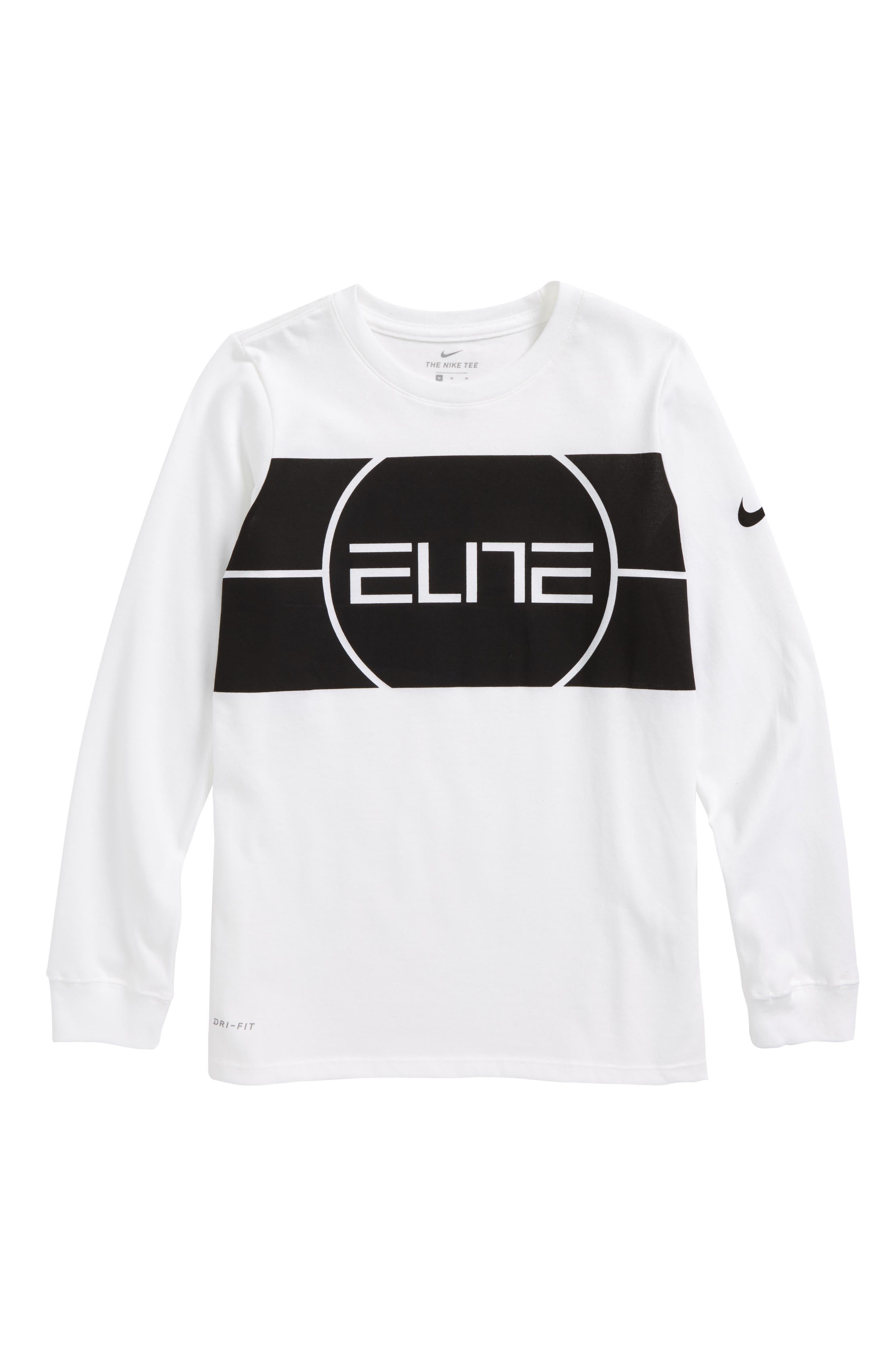 Dry Elite Logo T-Shirt,                             Main thumbnail 1, color,                             White