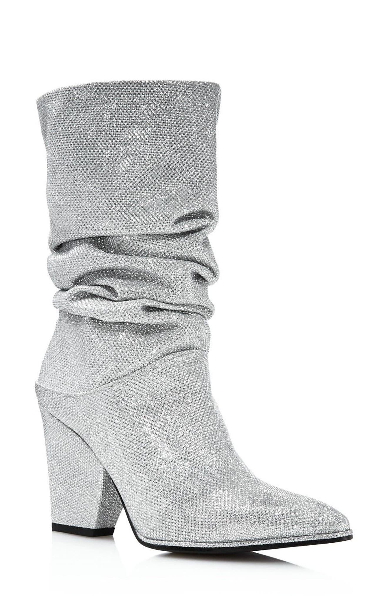 Crush Slouchy Bootie,                         Main,                         color, Silver