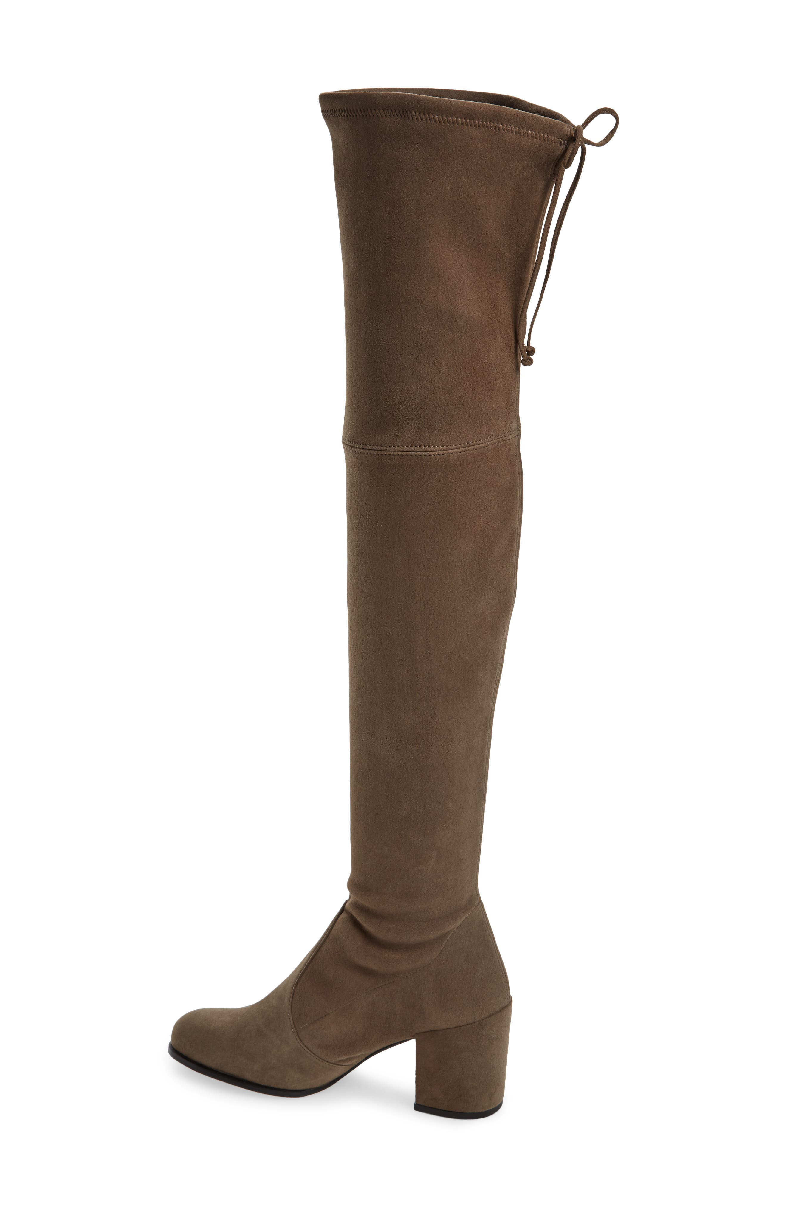Tieland Over the Knee Boot,                             Alternate thumbnail 2, color,                             Praline Suede