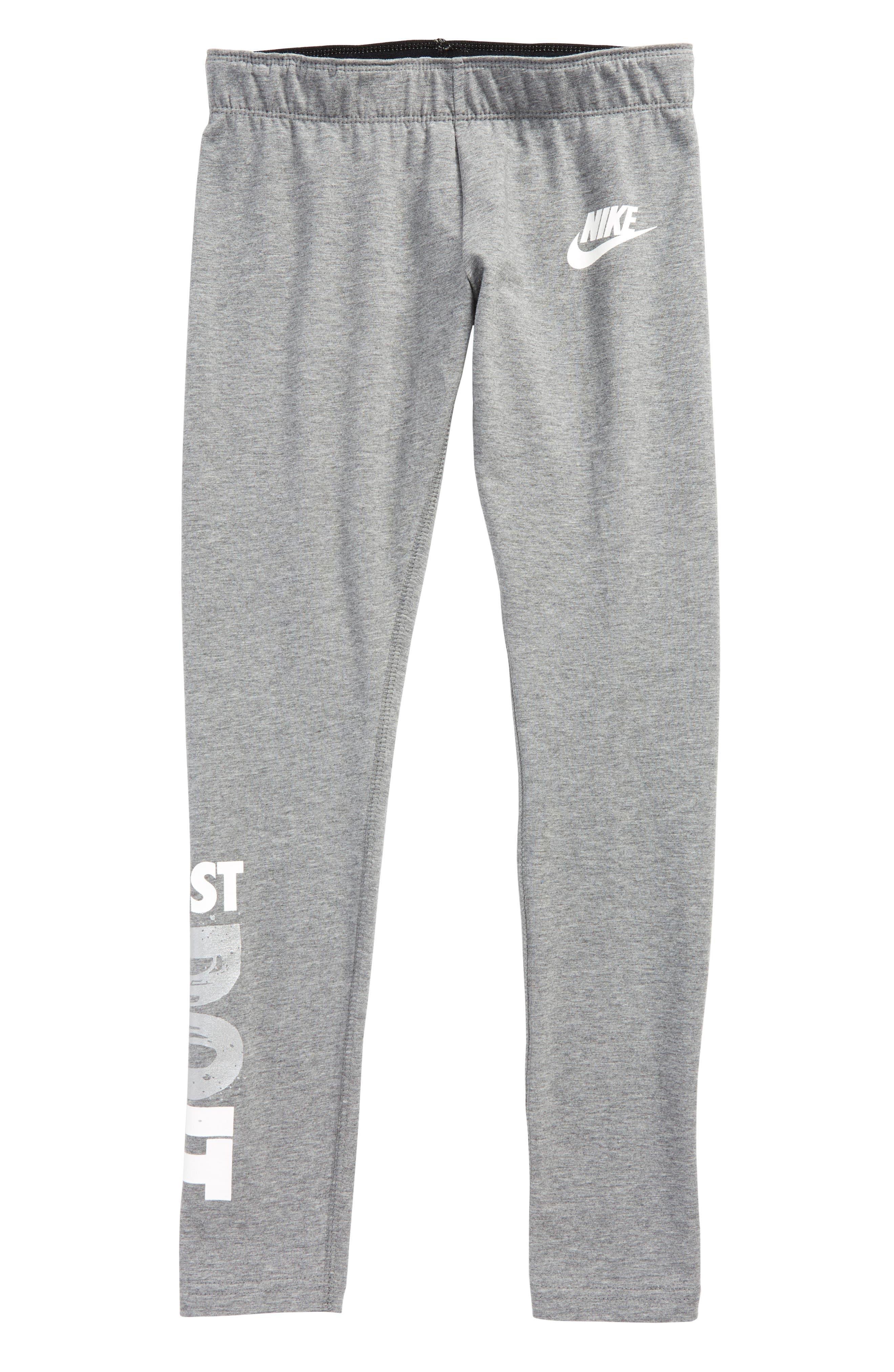 Alternate Image 1 Selected - Nike Leg A See Logo Leggings (Big Girls)