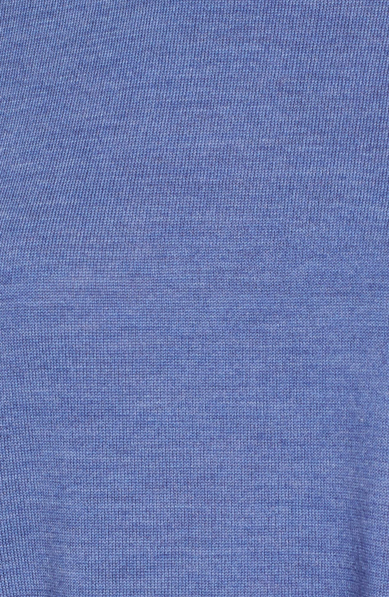 Asymmetrical Merino Wool Sweater,                             Alternate thumbnail 5, color,                             Periwinkle