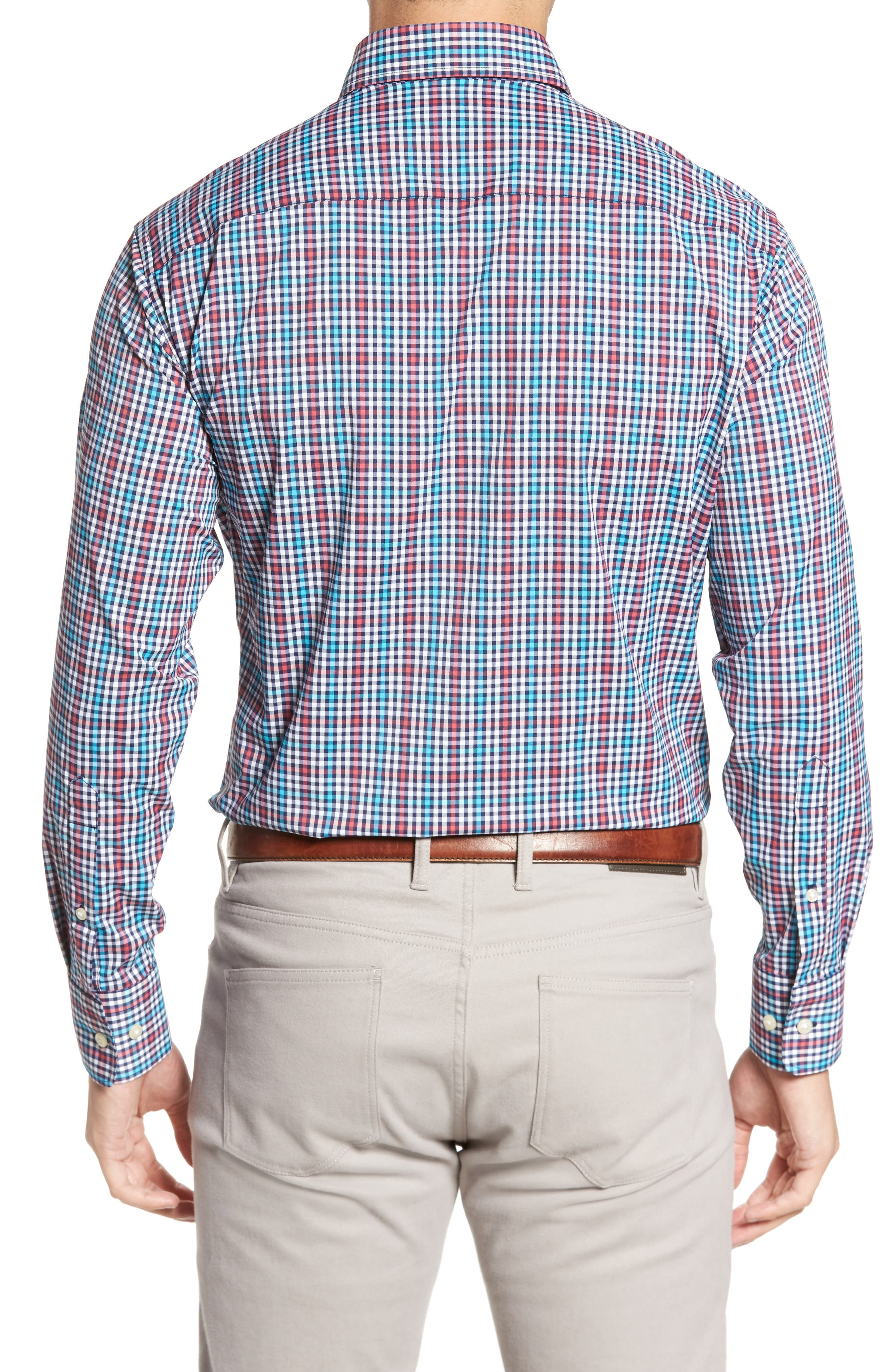 Alternate Image 2  - Peter Millar Collier Regular Fit Plaid Performance Sport Shirt