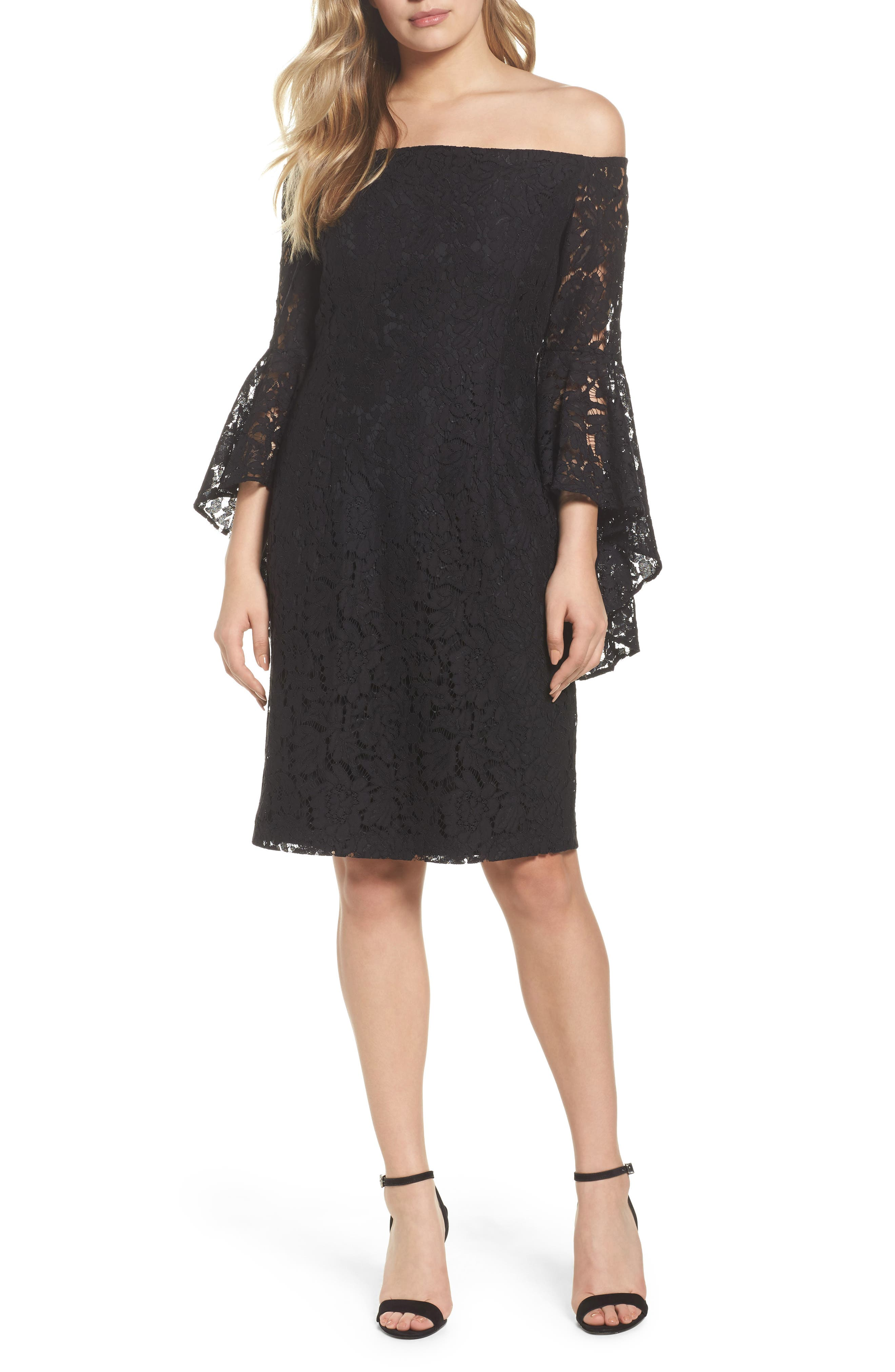 Alternate Image 1 Selected - Chelsea28 Off the Shoulder Lace Dress