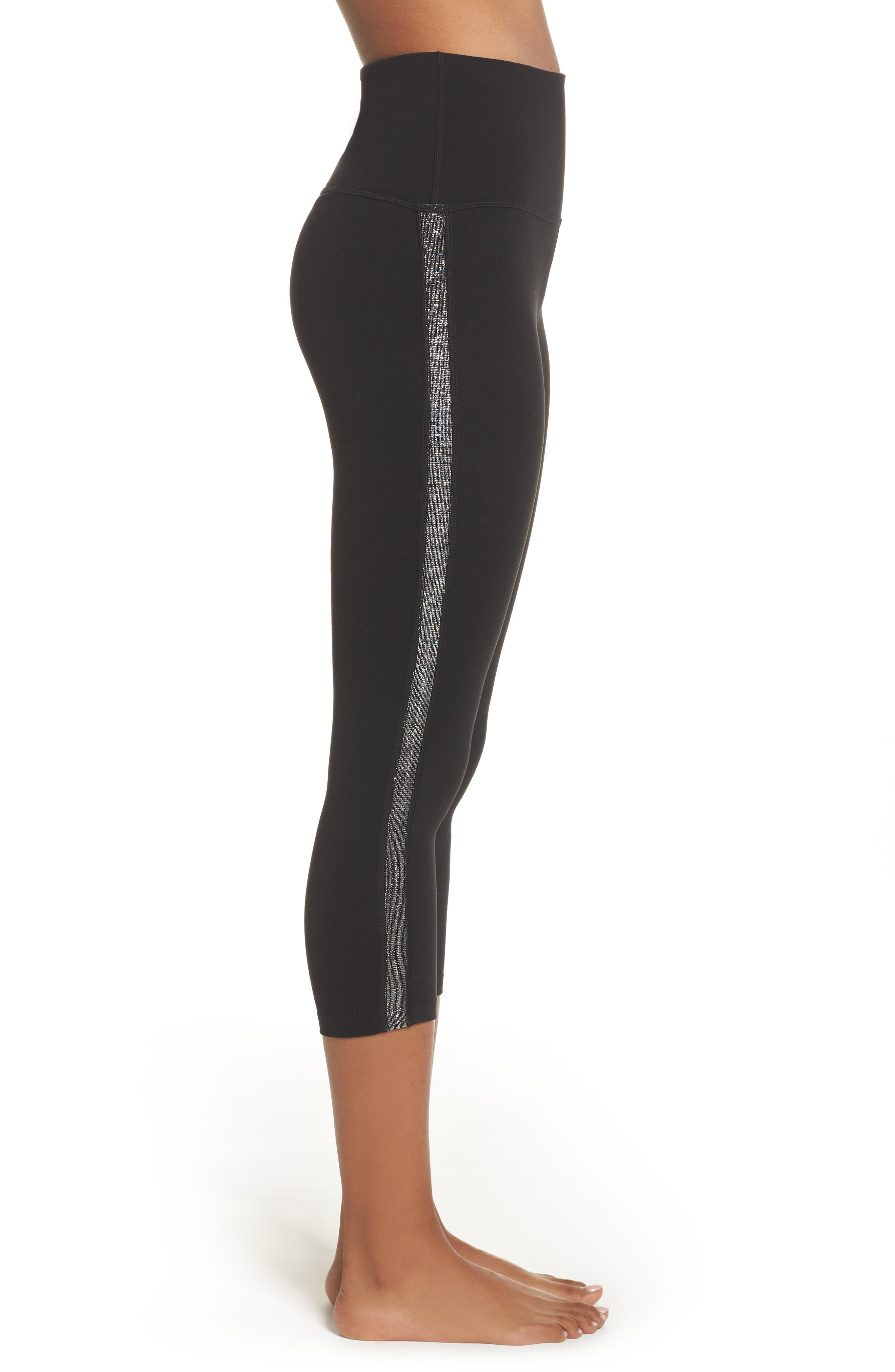 Alternate Image 4  - Beyond Yoga Fit & Trim High Waist Capri Leggings