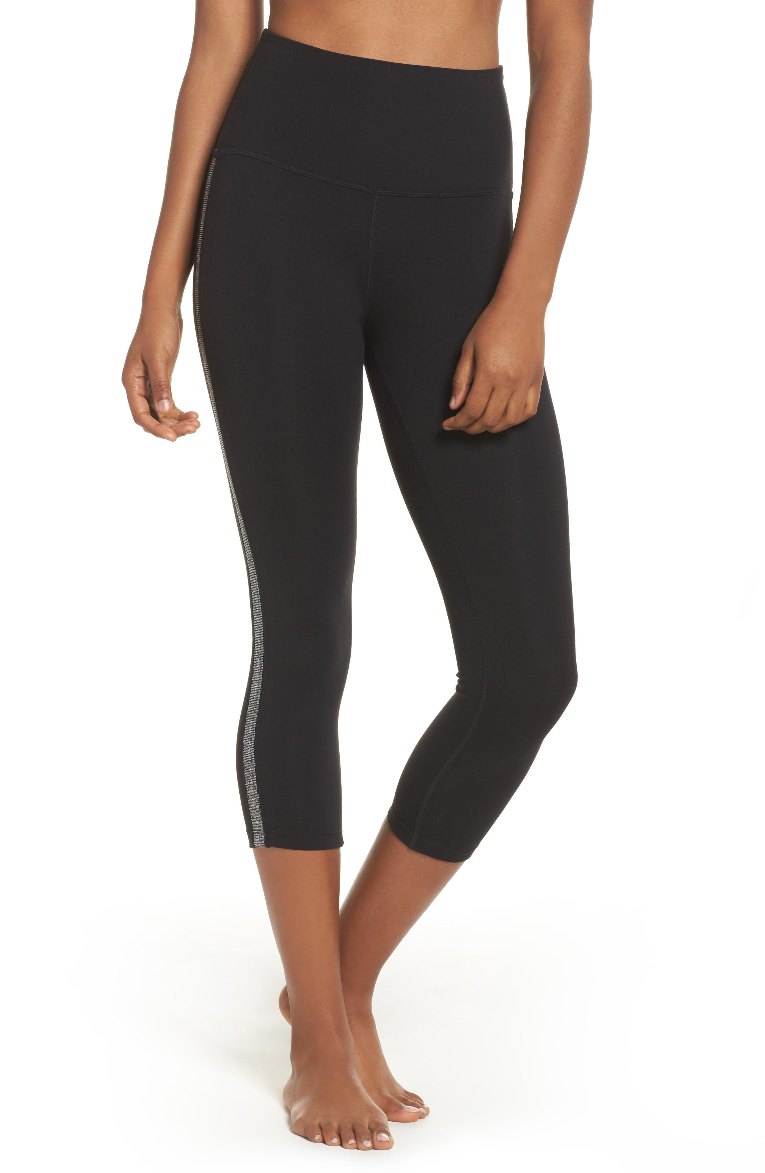 Alternate Image 1 Selected - Beyond Yoga Fit & Trim High Waist Capri Leggings