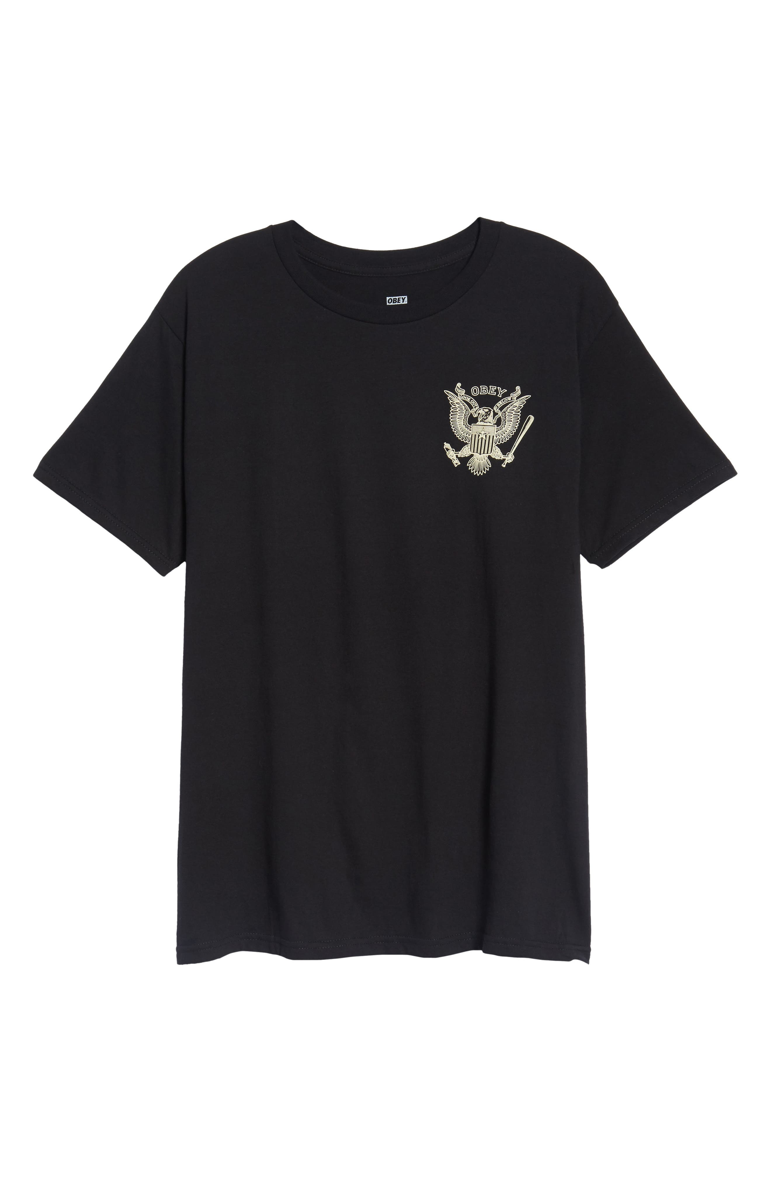 Look Out Below Premium Graphic T-Shirt,                             Alternate thumbnail 6, color,                             Black