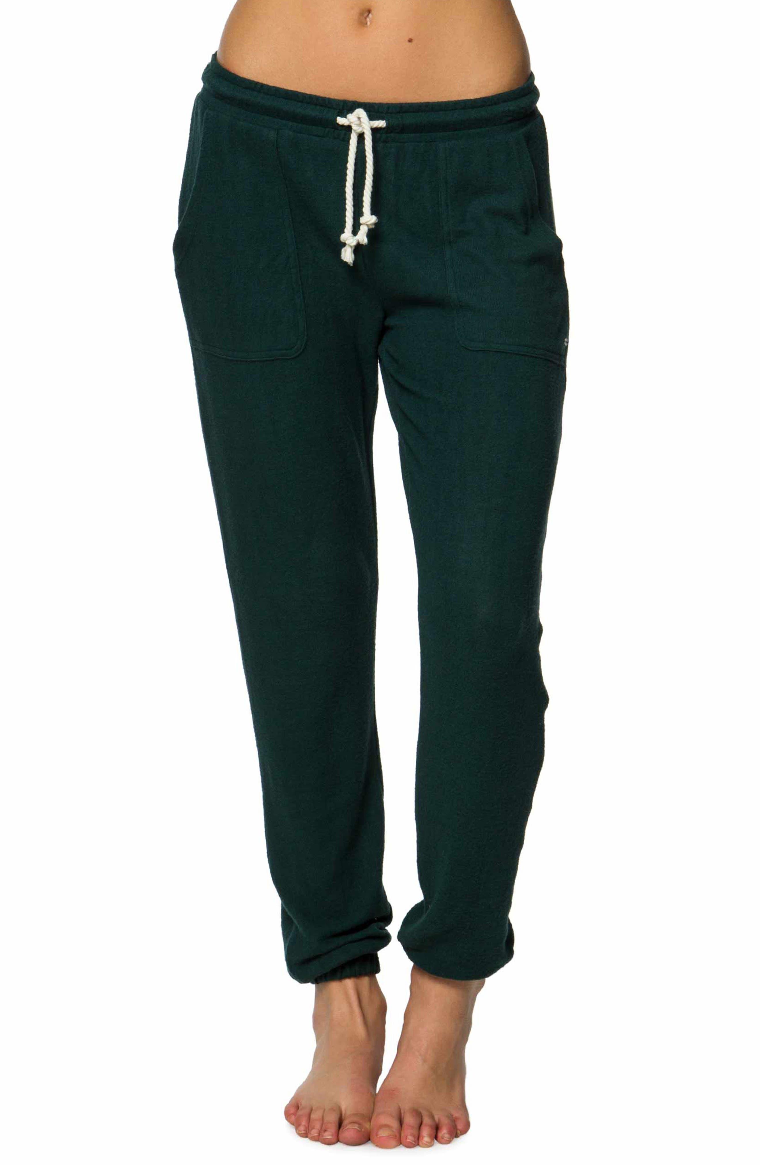 Jordin Fleece Pants,                         Main,                         color, Dark Balsam