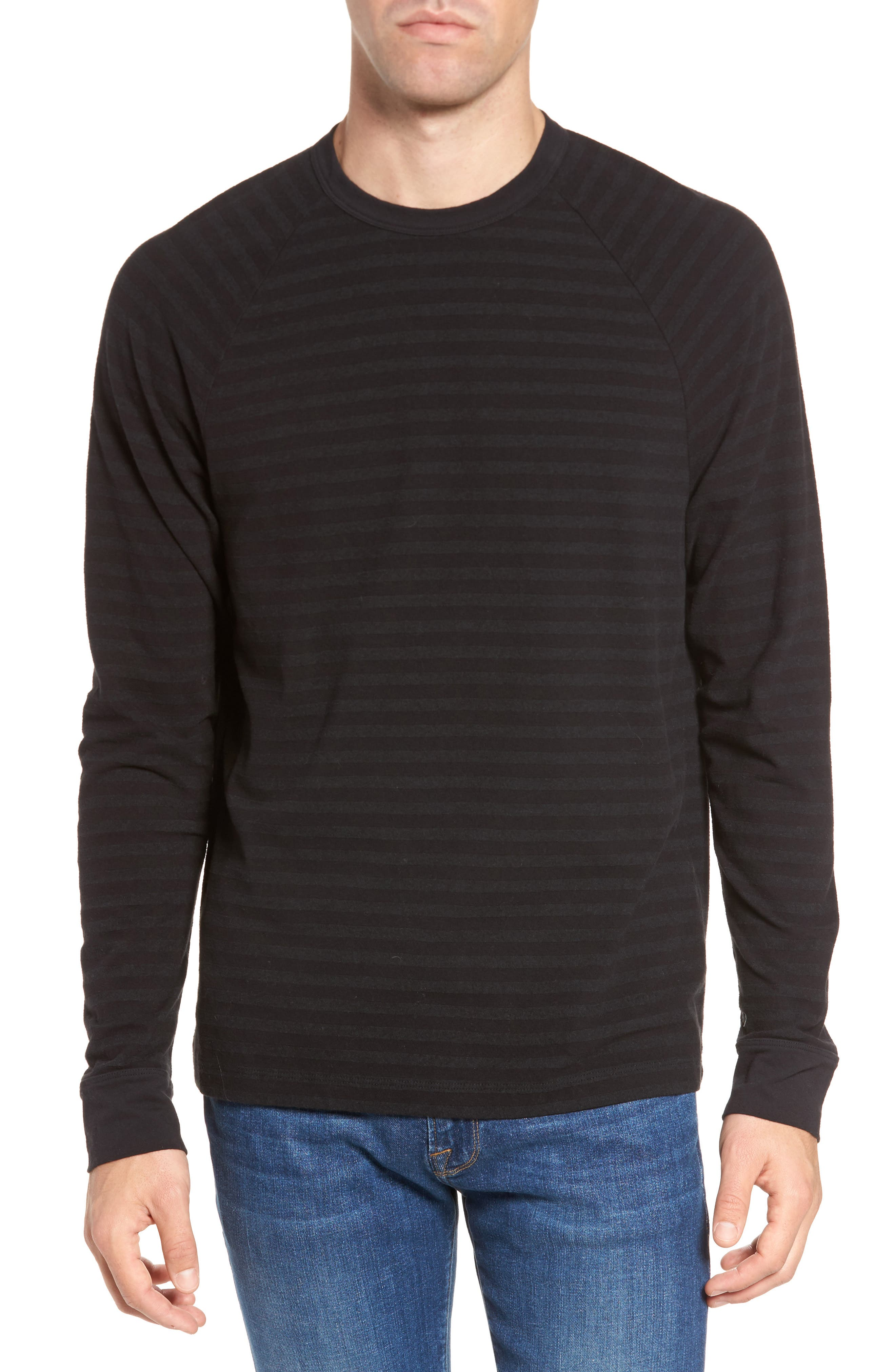 James Perse Shadow Stripe Raglan Pullover