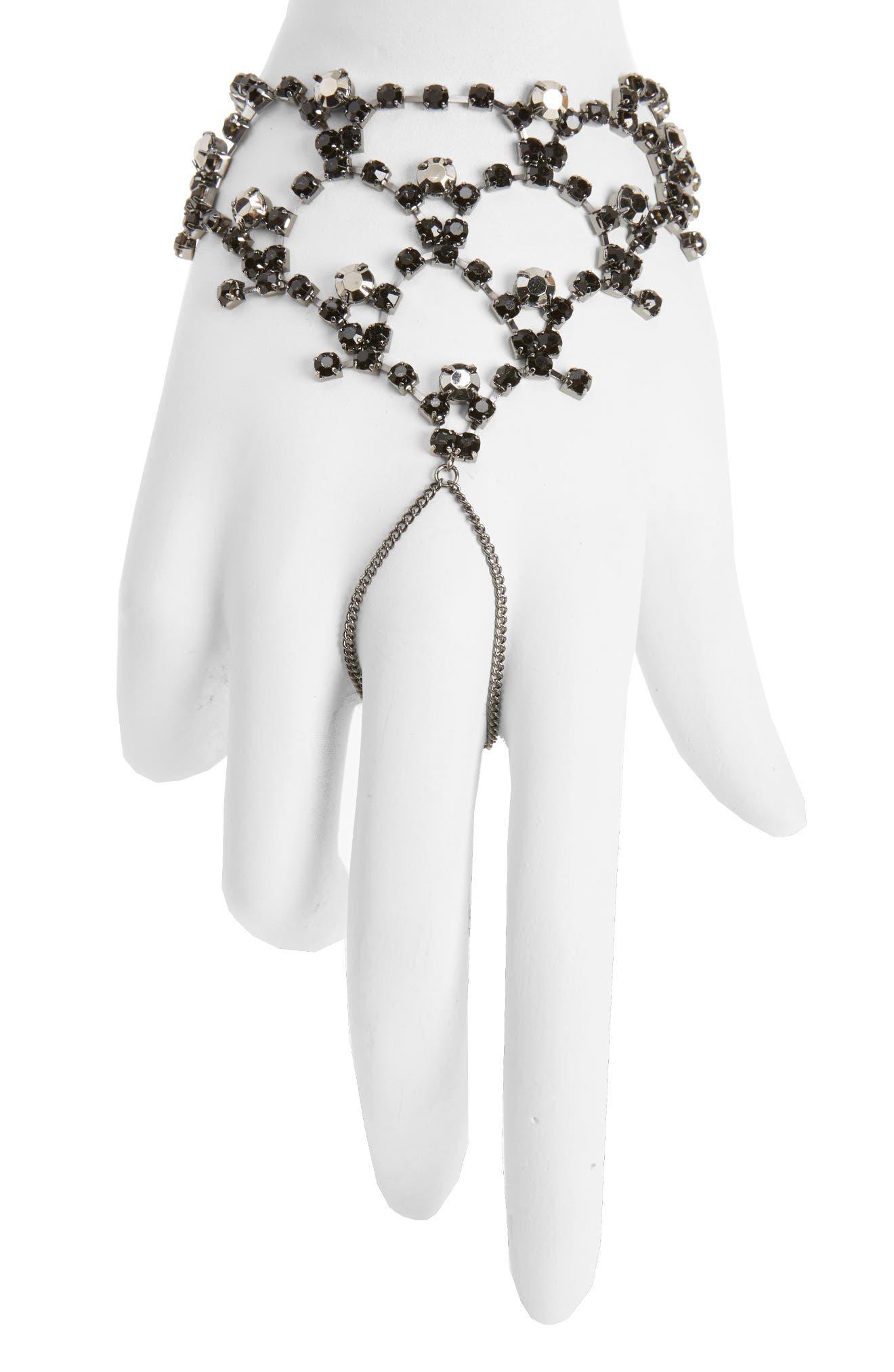 Main Image - Topshop Mystical Stone Hand Chain