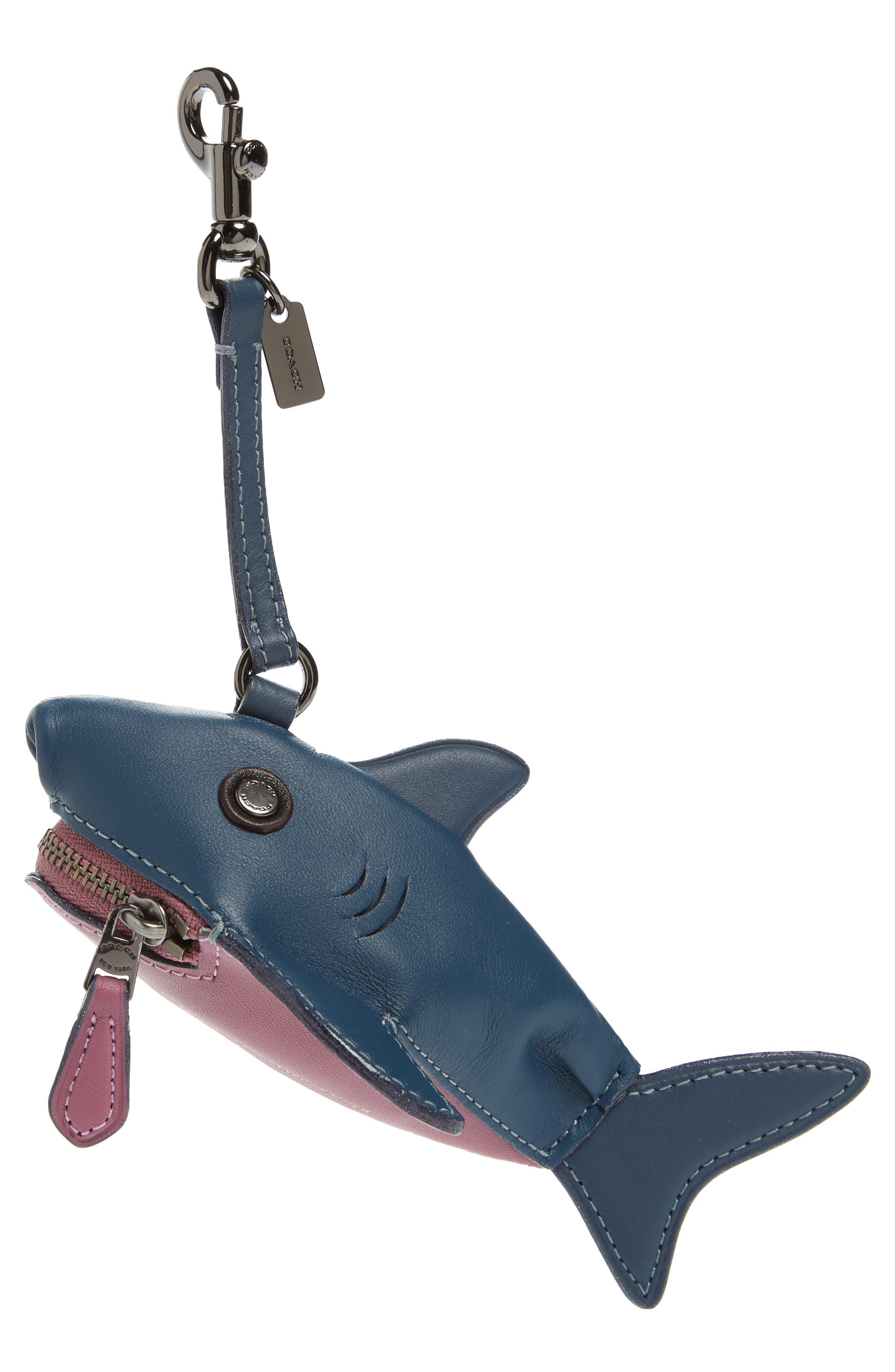 COACH 1941 Sharky Leather Coin Case/Bag Charm