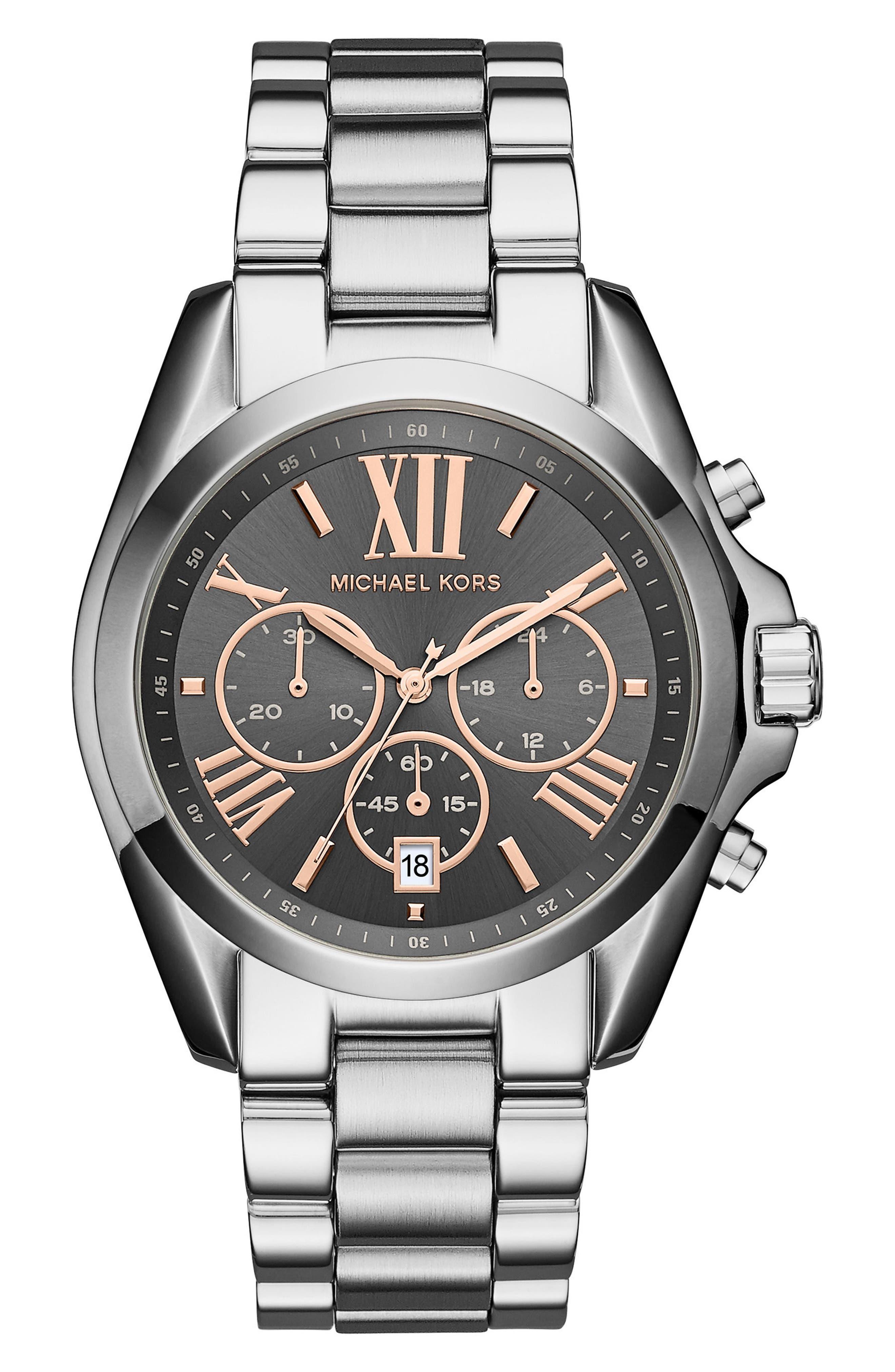 Bradshaw Chronograph Bracelet Watch, 43mm,                         Main,                         color, Silver/ Grey/ Silver