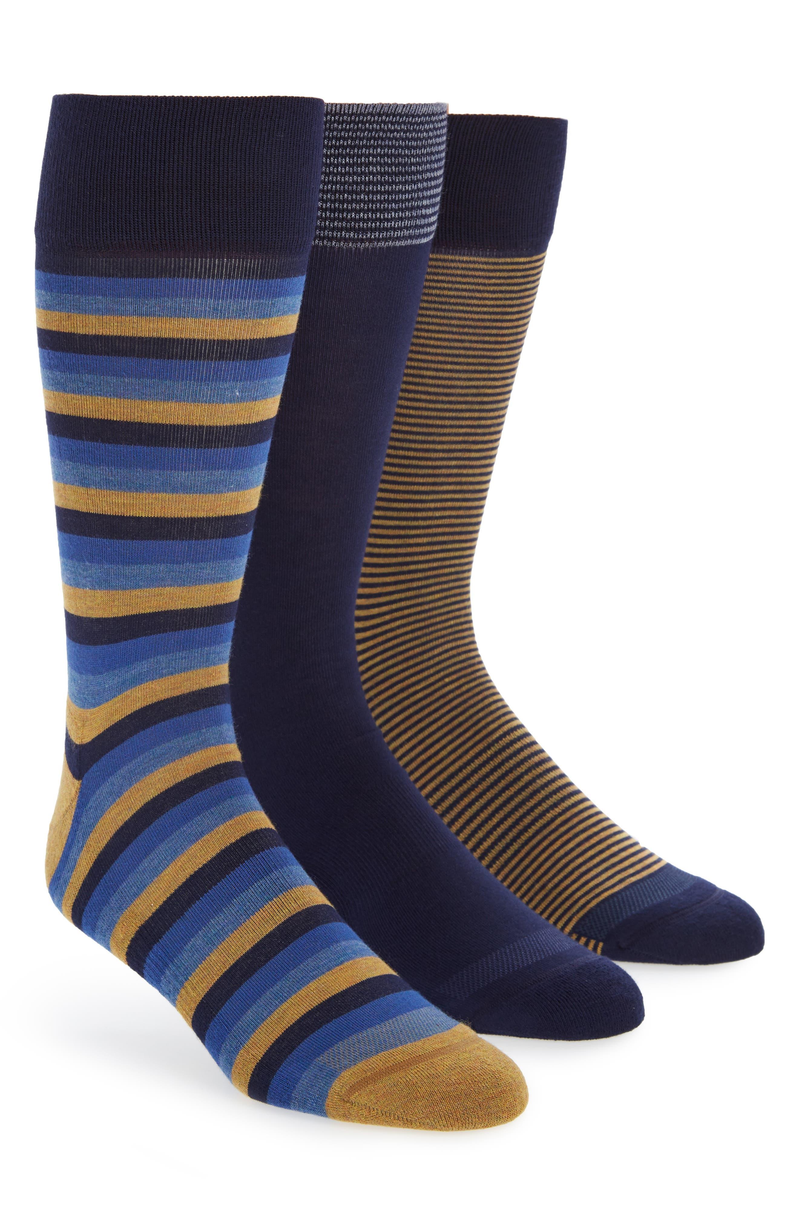 Nordstrom Men's Shop 3-Pack Assorted Dress Socks