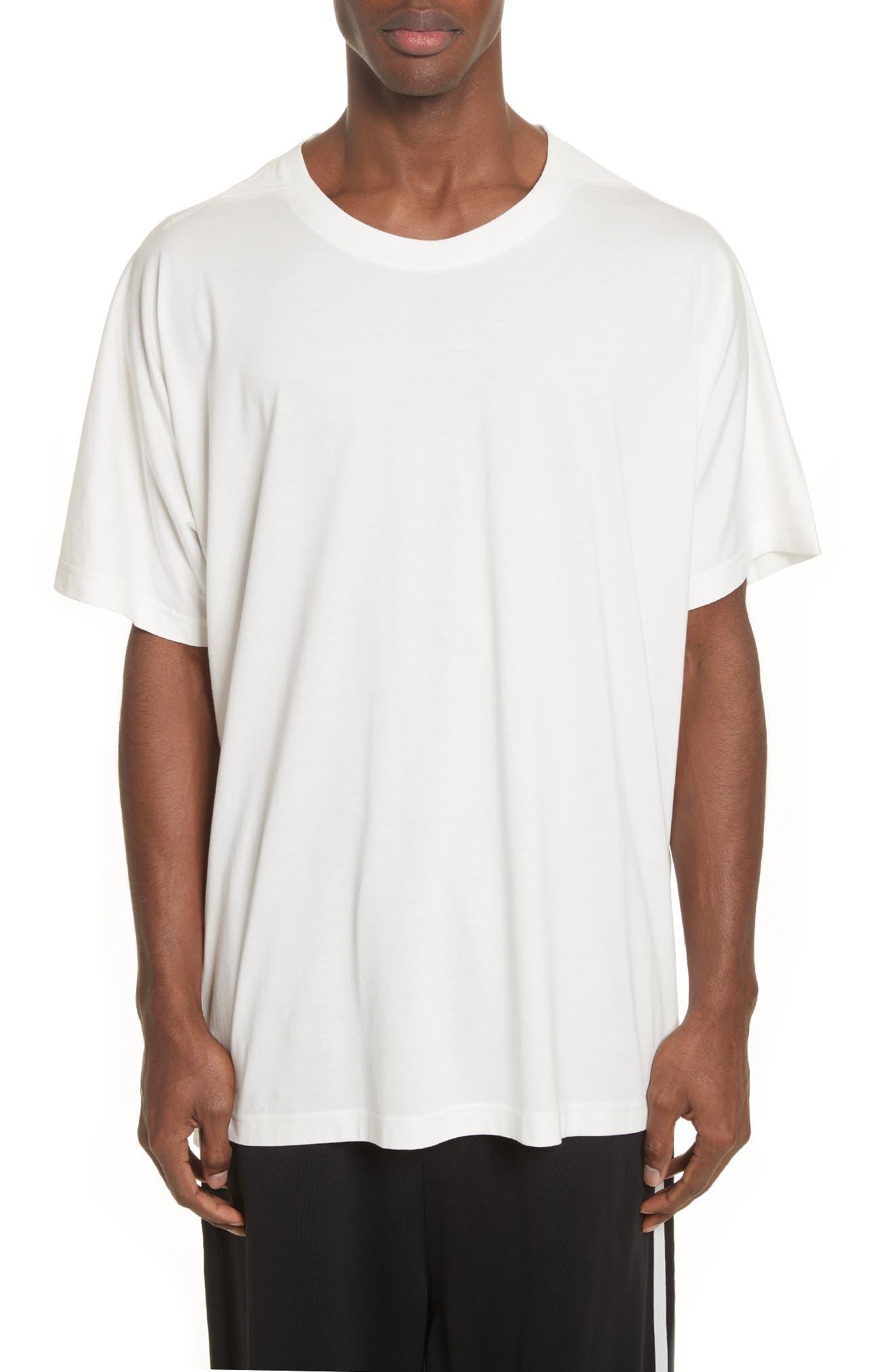 Back Logo Print Oversize T-Shirt,                             Main thumbnail 1, color,                             White