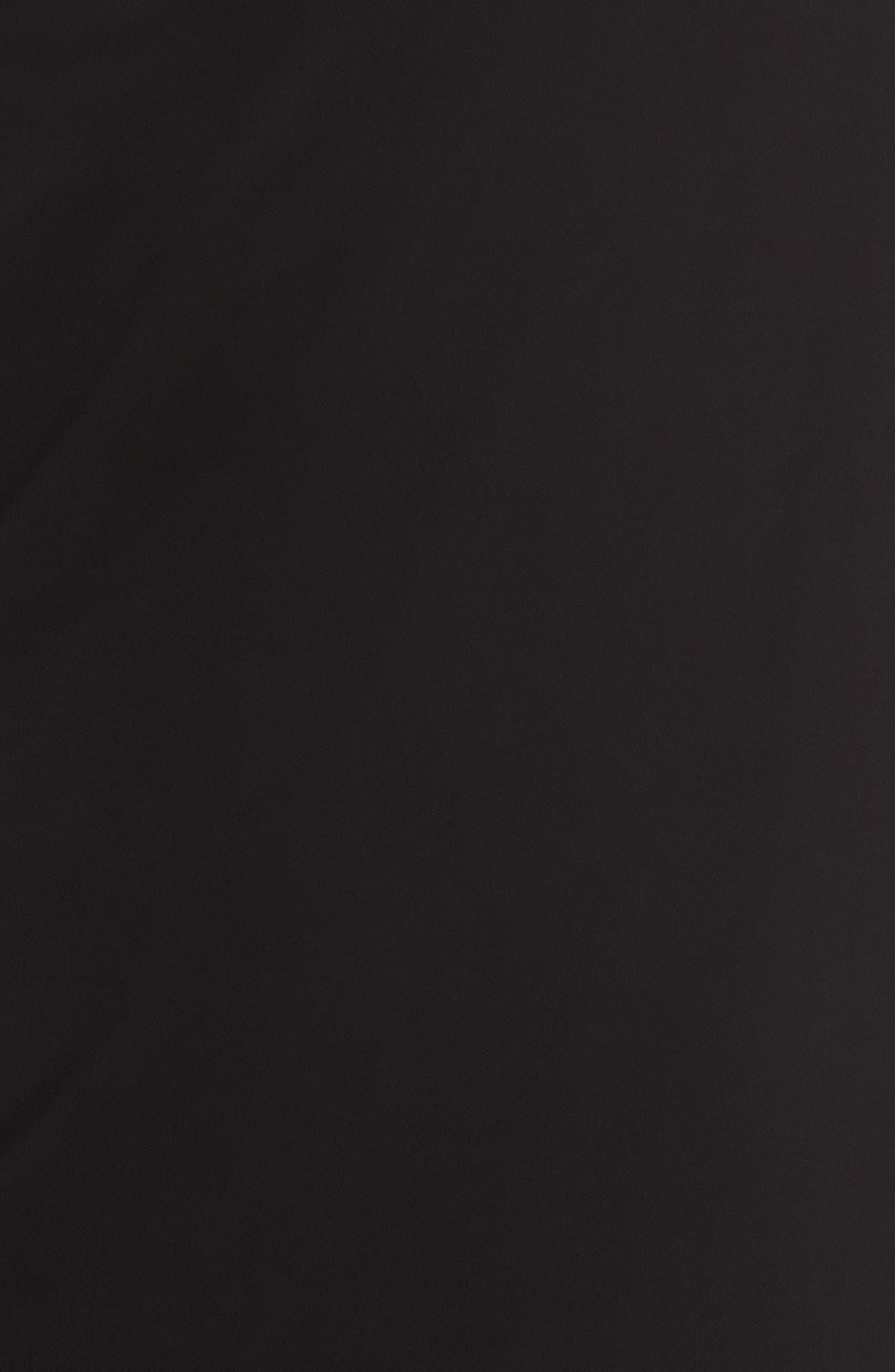 Draped One-Shoulder Midi Dress,                             Alternate thumbnail 5, color,                             Black