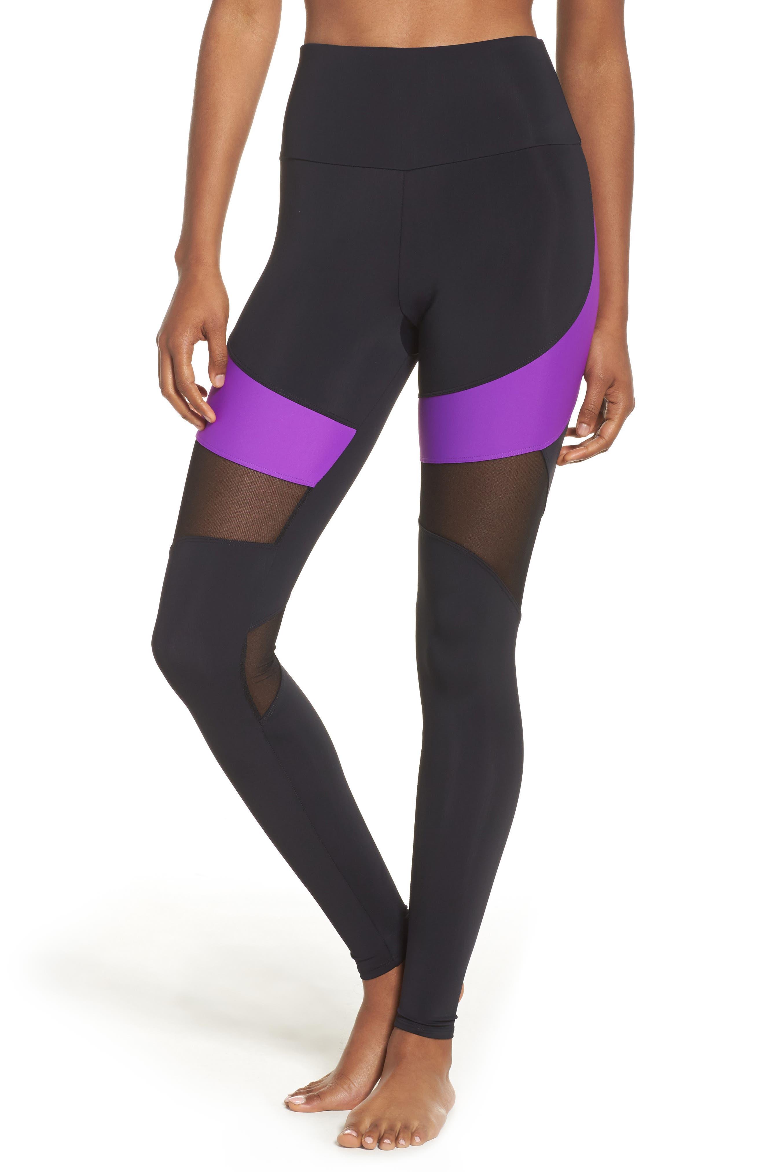 Royal High Waist Leggings,                         Main,                         color, Electric Purple