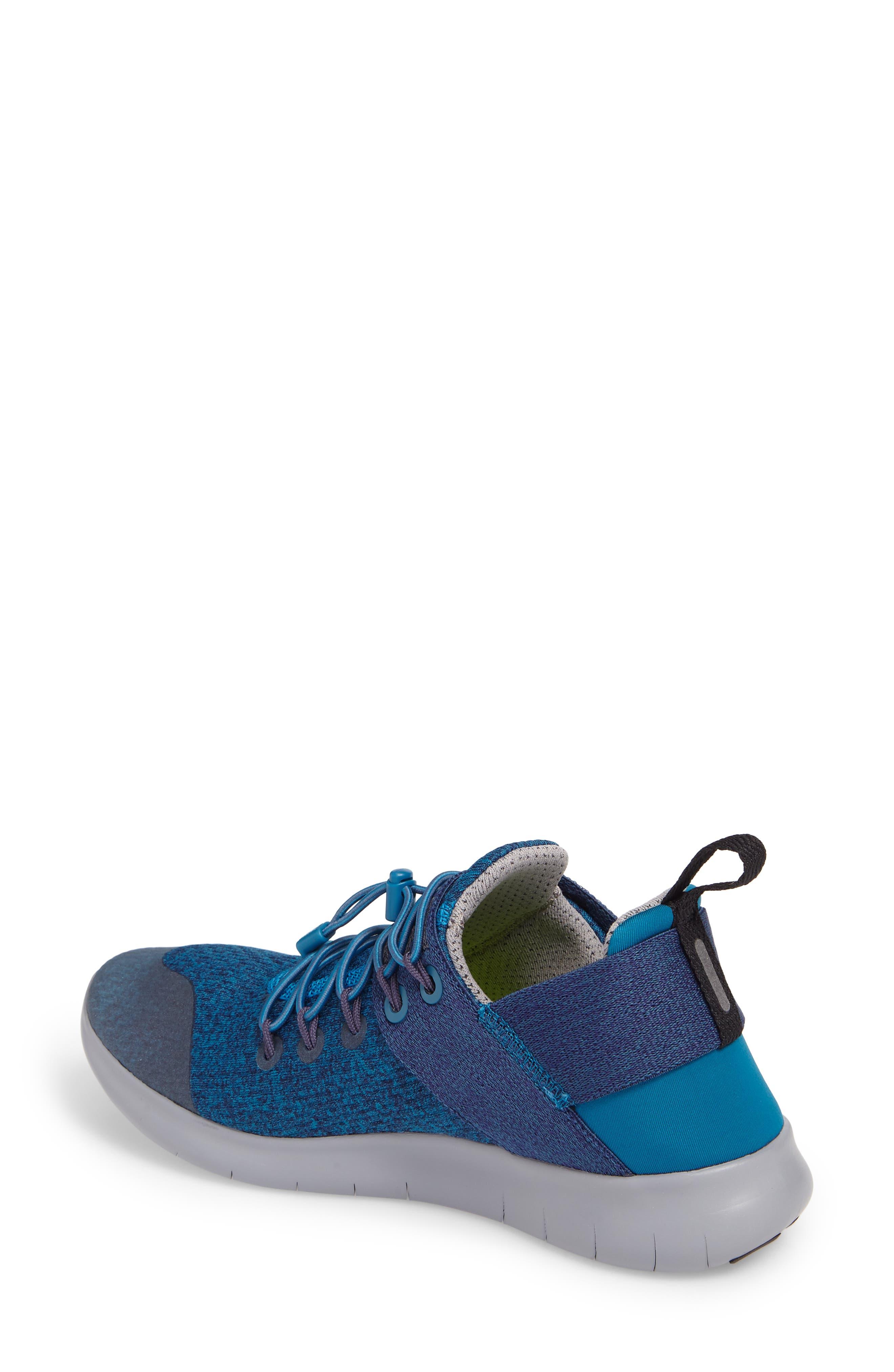 Free RN Commuter 2017 Premium Running Shoe,                             Alternate thumbnail 2, color,                             Green / Black/ Cobblestone