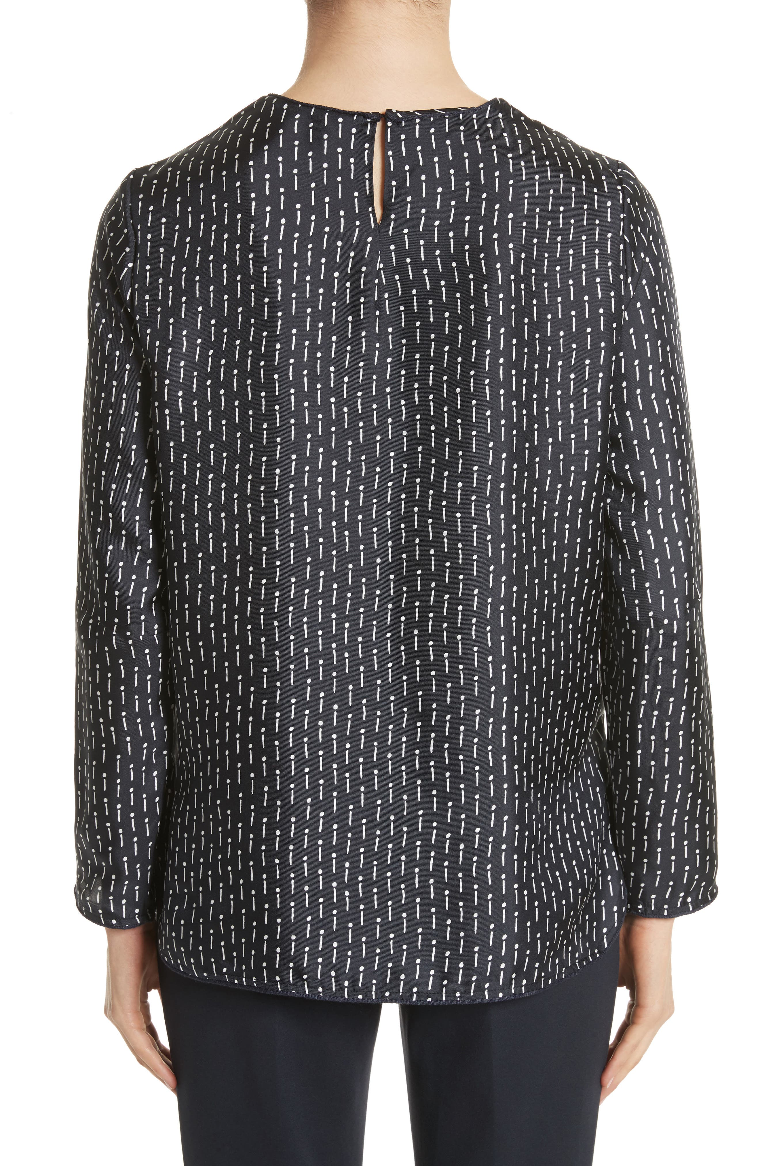Alternate Image 2  - Max Mara Curt Silk Blouse