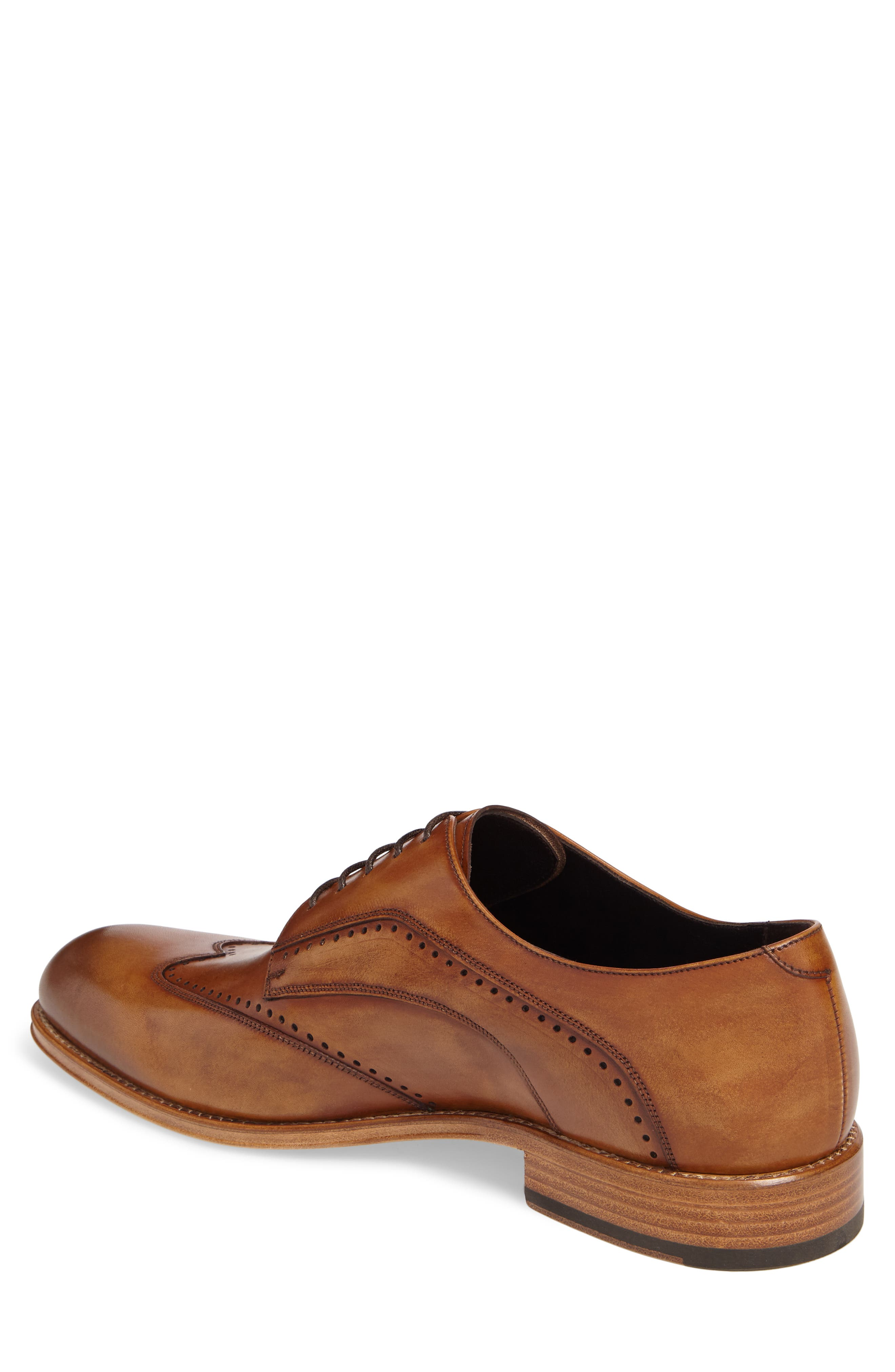 Francesco Wingtip Derby,                             Alternate thumbnail 2, color,                             Tan Leather