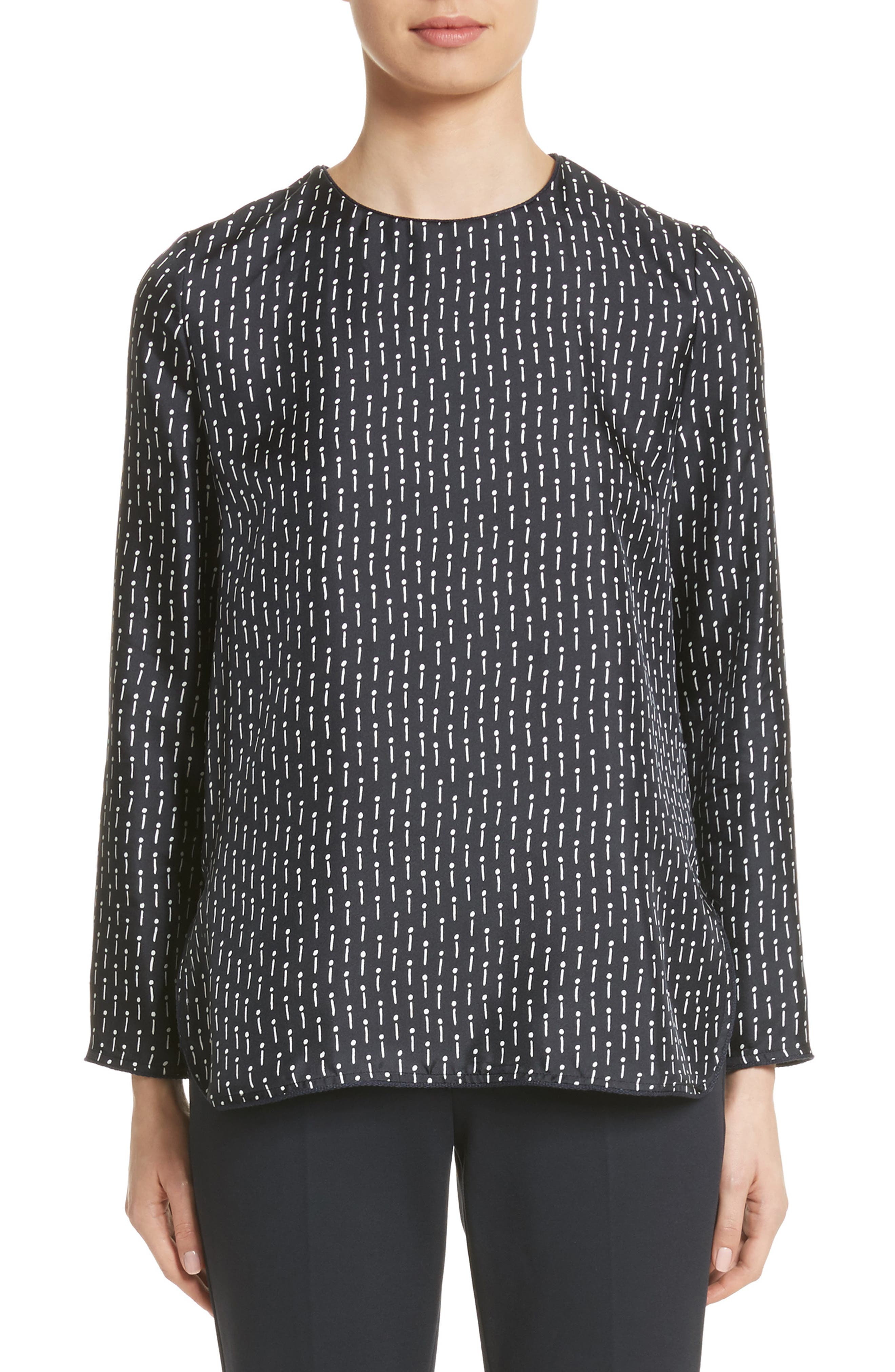Alternate Image 1 Selected - Max Mara Curt Silk Blouse