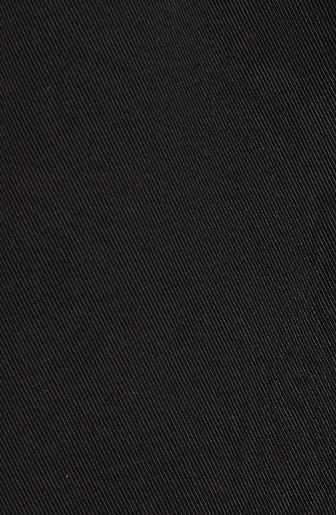 Alec Denim Jacket with Faux Shearling Trim,                             Alternate thumbnail 5, color,                             Blackout