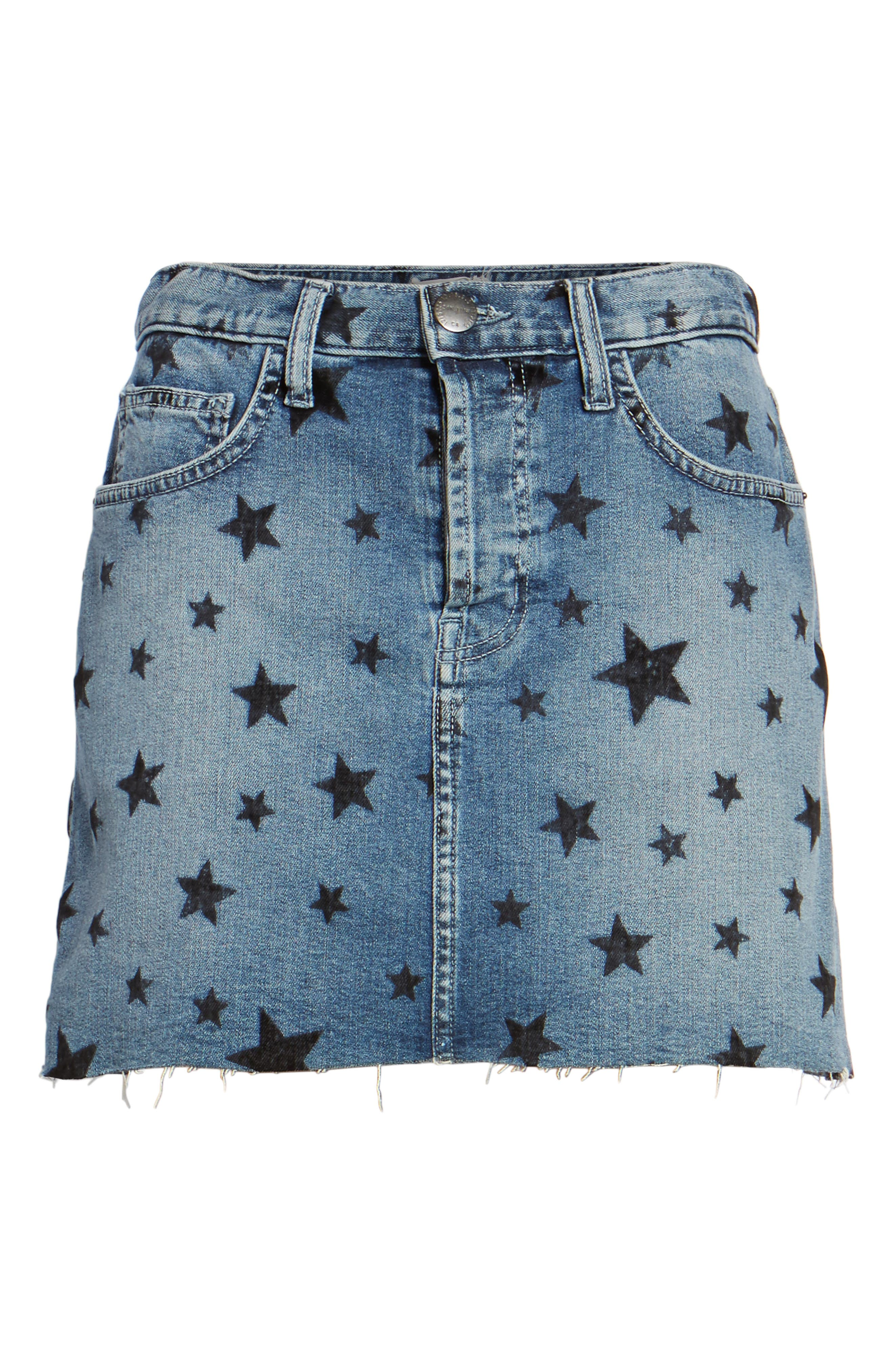 The Cut Off Miniskirt,                             Alternate thumbnail 6, color,                             Flocked Star