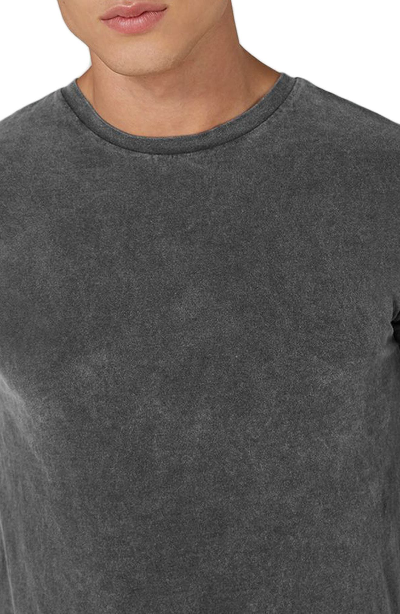 Acid Wash Classic Fit T-Shirt,                             Alternate thumbnail 3, color,                             Black