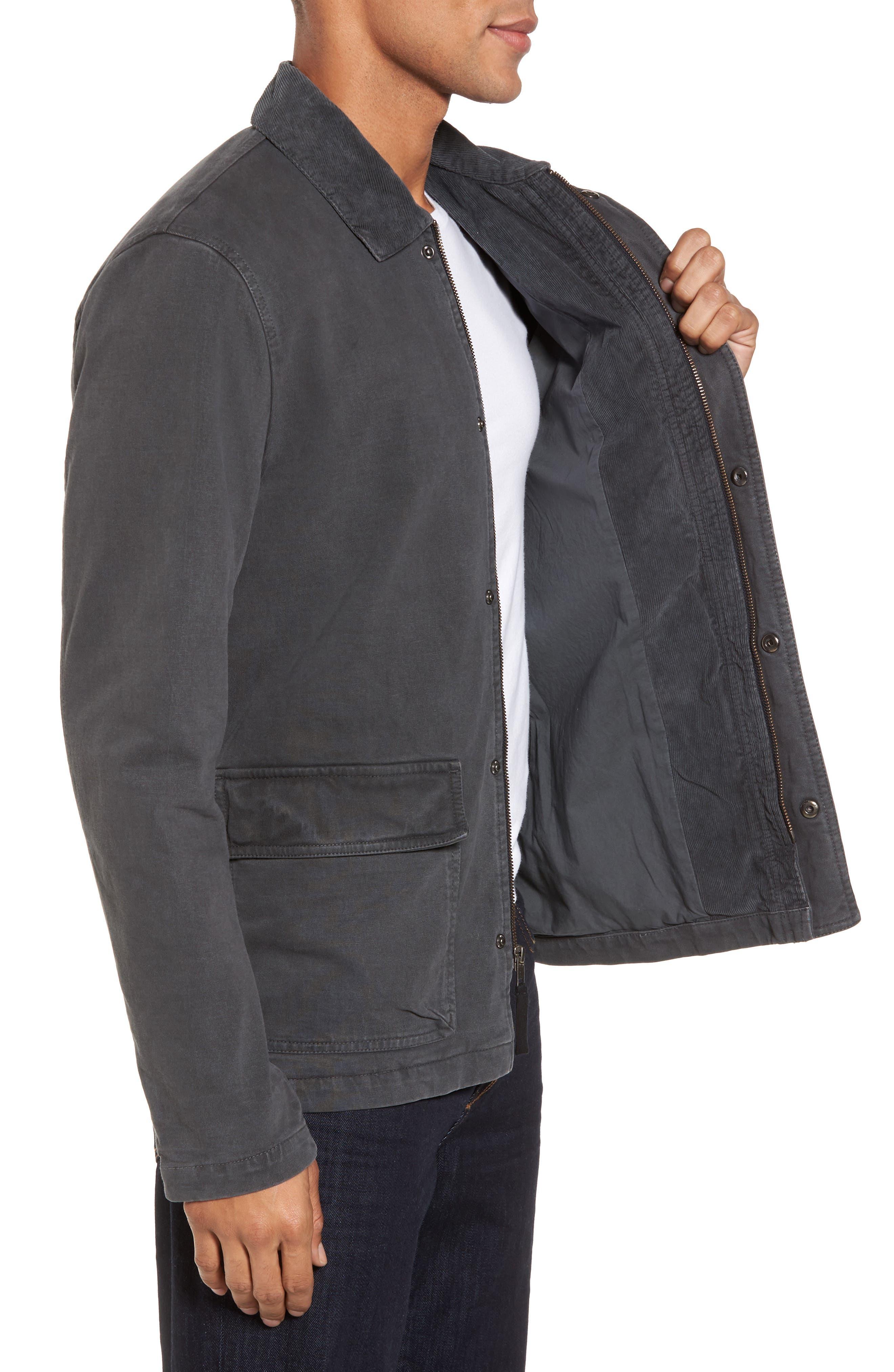 Garment Dyed Field Jacket,                             Alternate thumbnail 3, color,                             Carbon Pigment