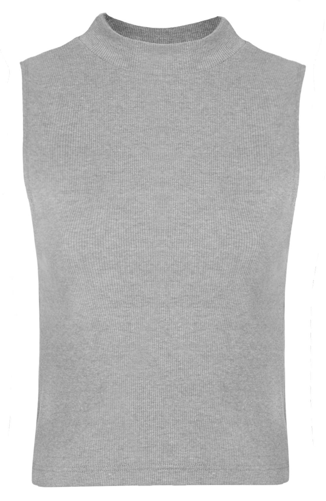 Alternate Image 3  - Topshop Sleeveless Funnel Top