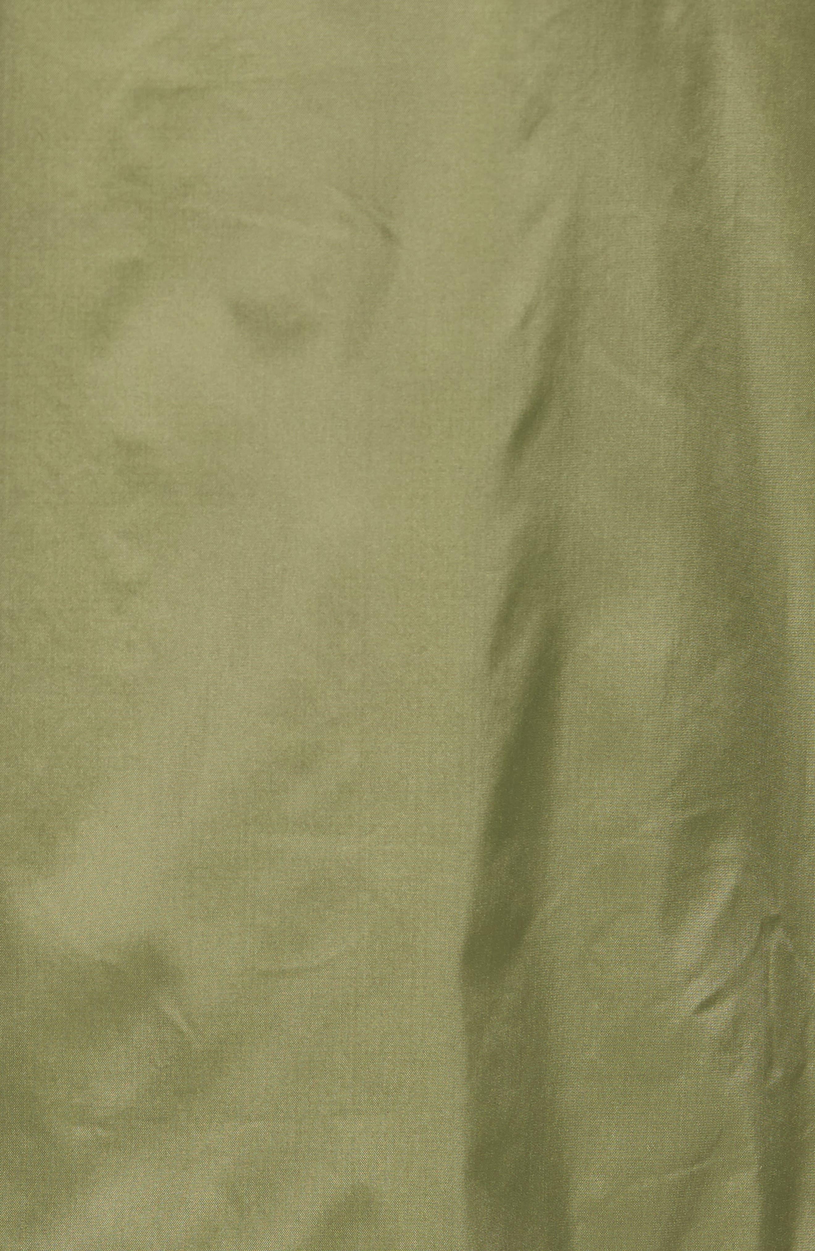 Novel Mock Neck Nylon Jacket,                             Alternate thumbnail 5, color,                             Army