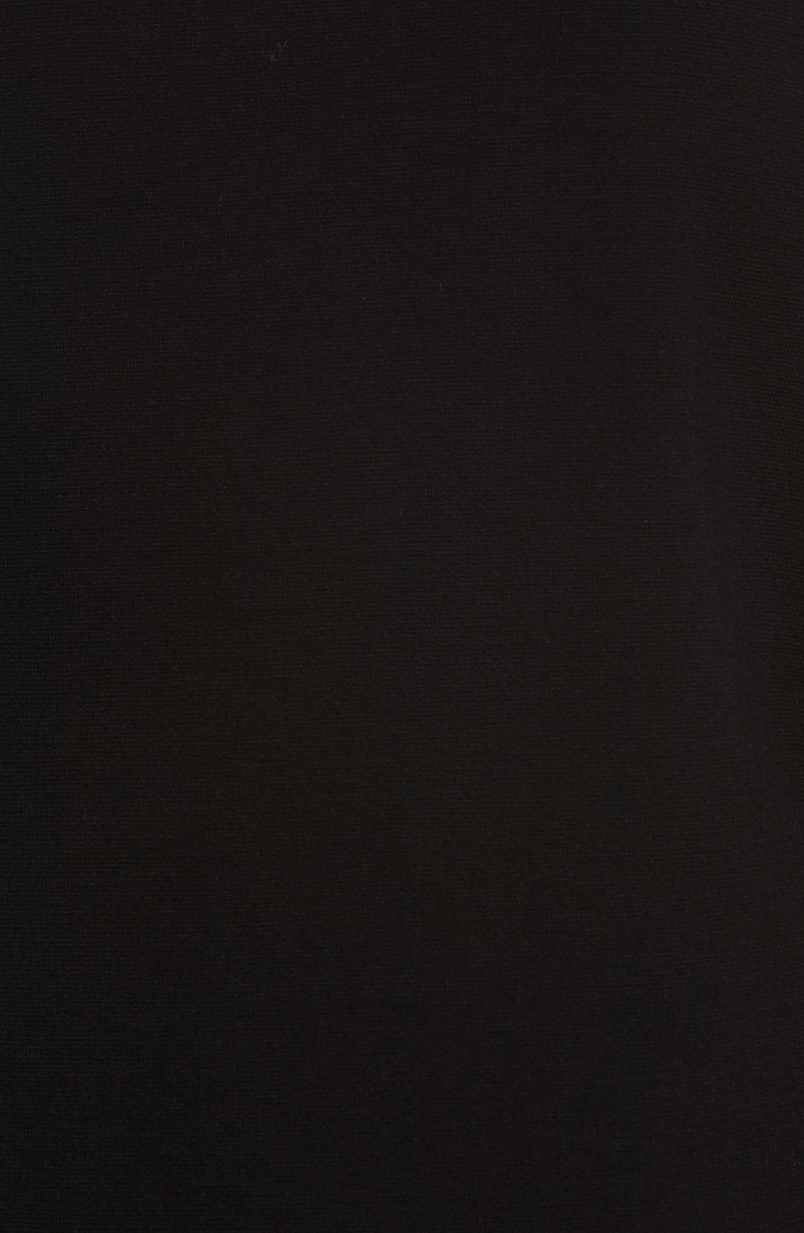 Nola Grommet Tunic Sweater,                             Alternate thumbnail 5, color,                             Black