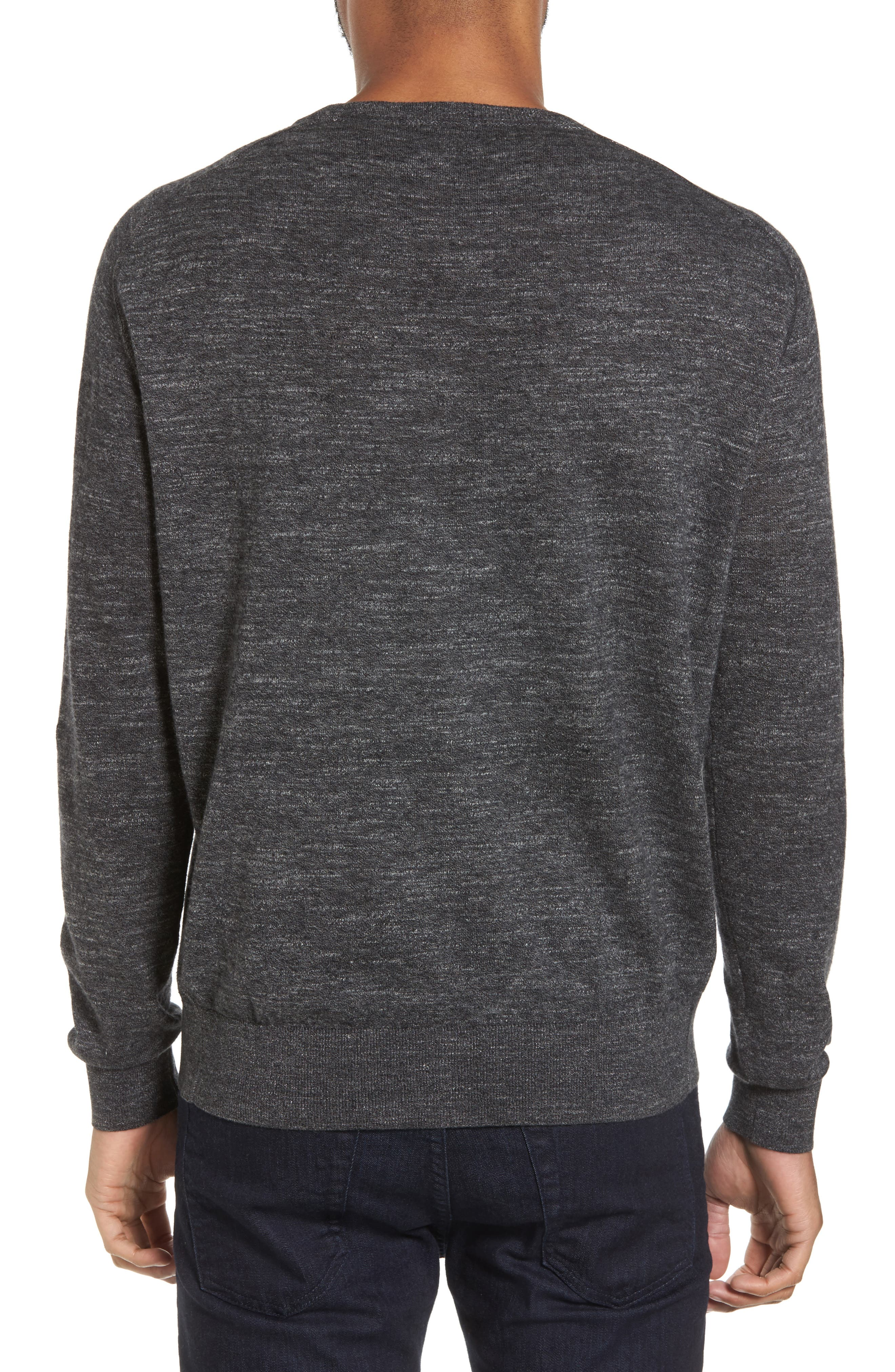 Slub Pullover Sweater,                             Alternate thumbnail 2, color,                             Grey