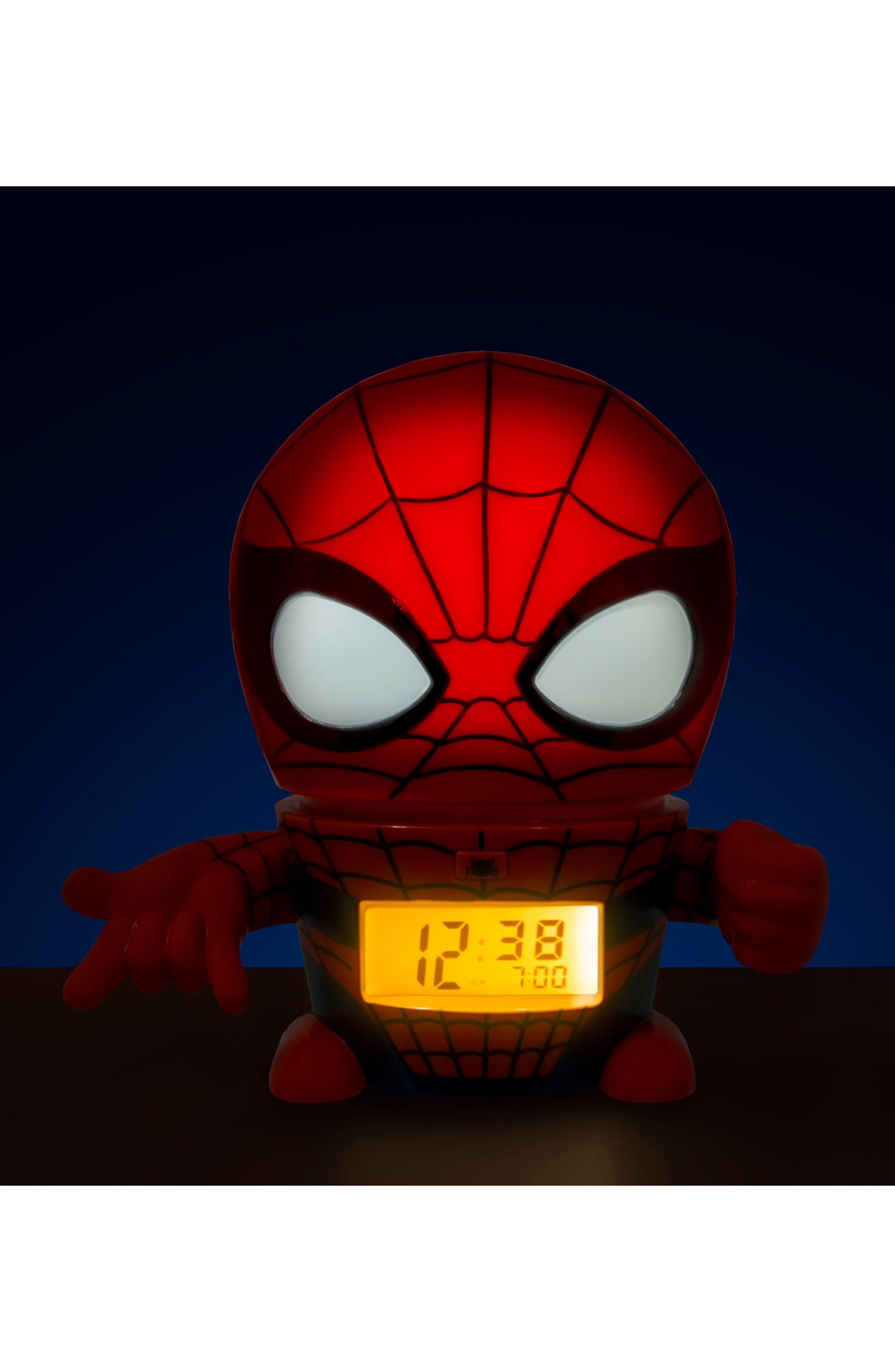Alternate Image 2  - Bulb Botz Marvel Spider-Man Night-Light/Alarm Clock