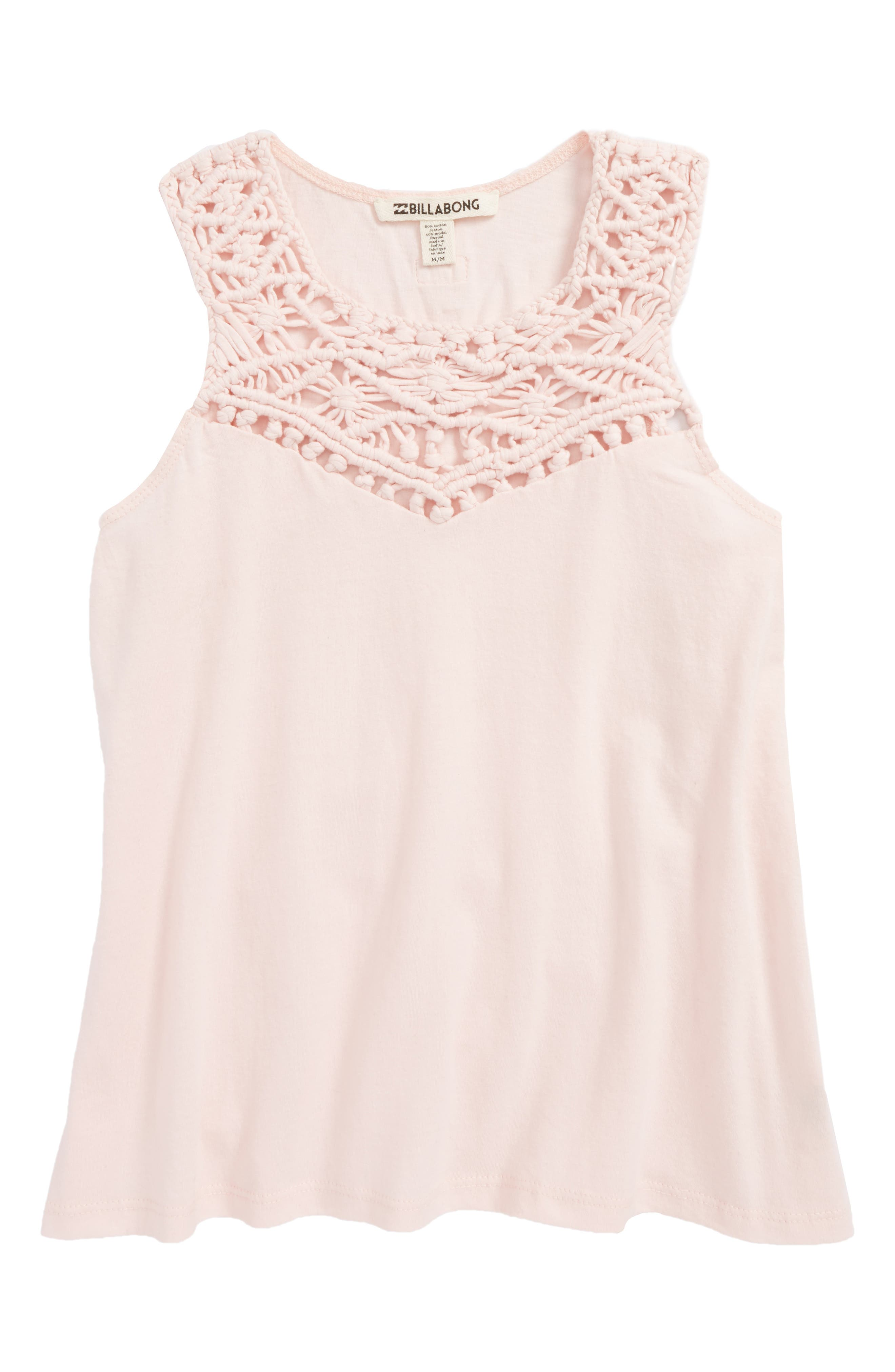 Second Look Tank,                         Main,                         color, Shell Pink