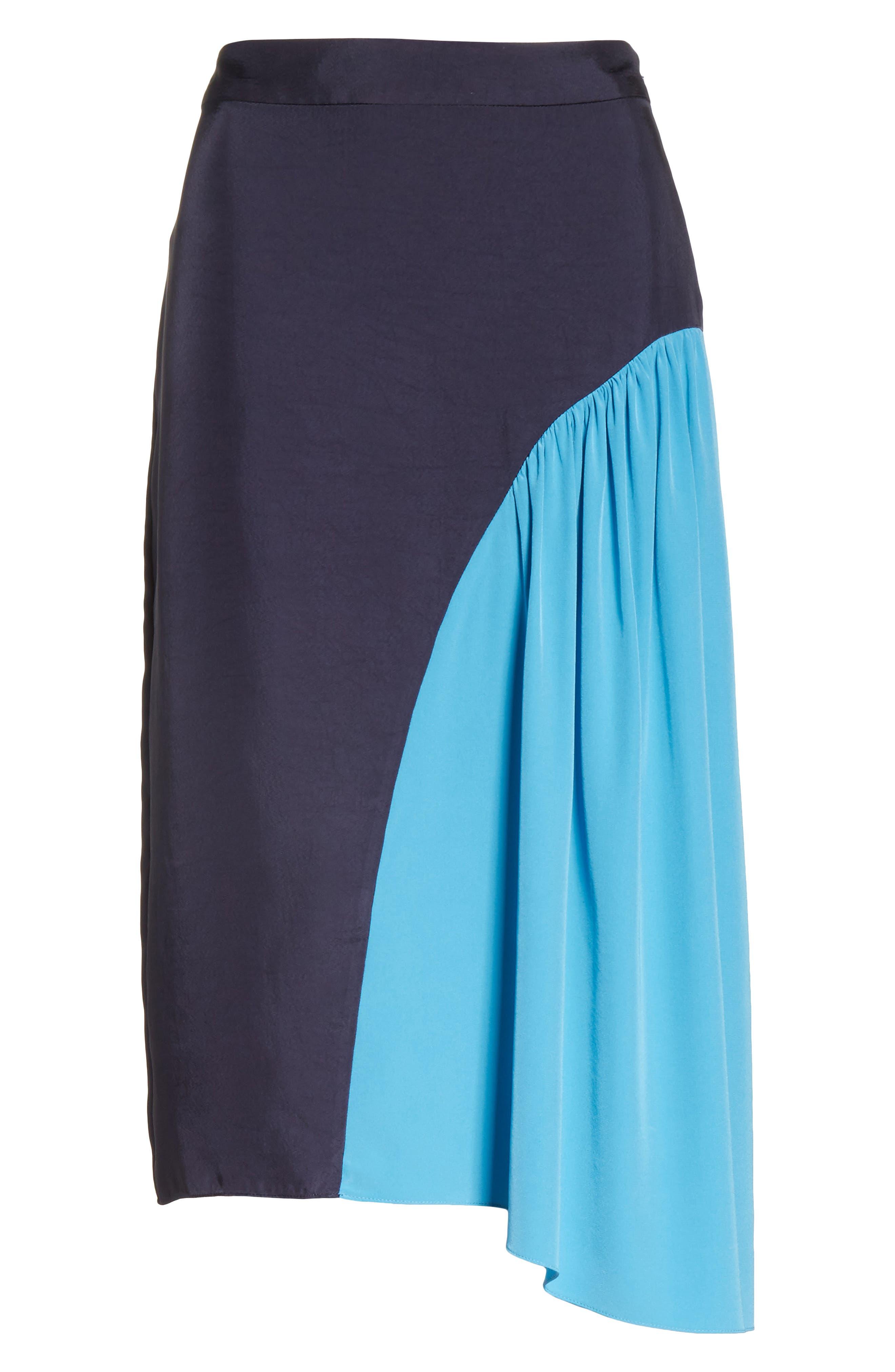 Colorblock Skirt,                             Alternate thumbnail 6, color,                             Navy/ Blue Multi