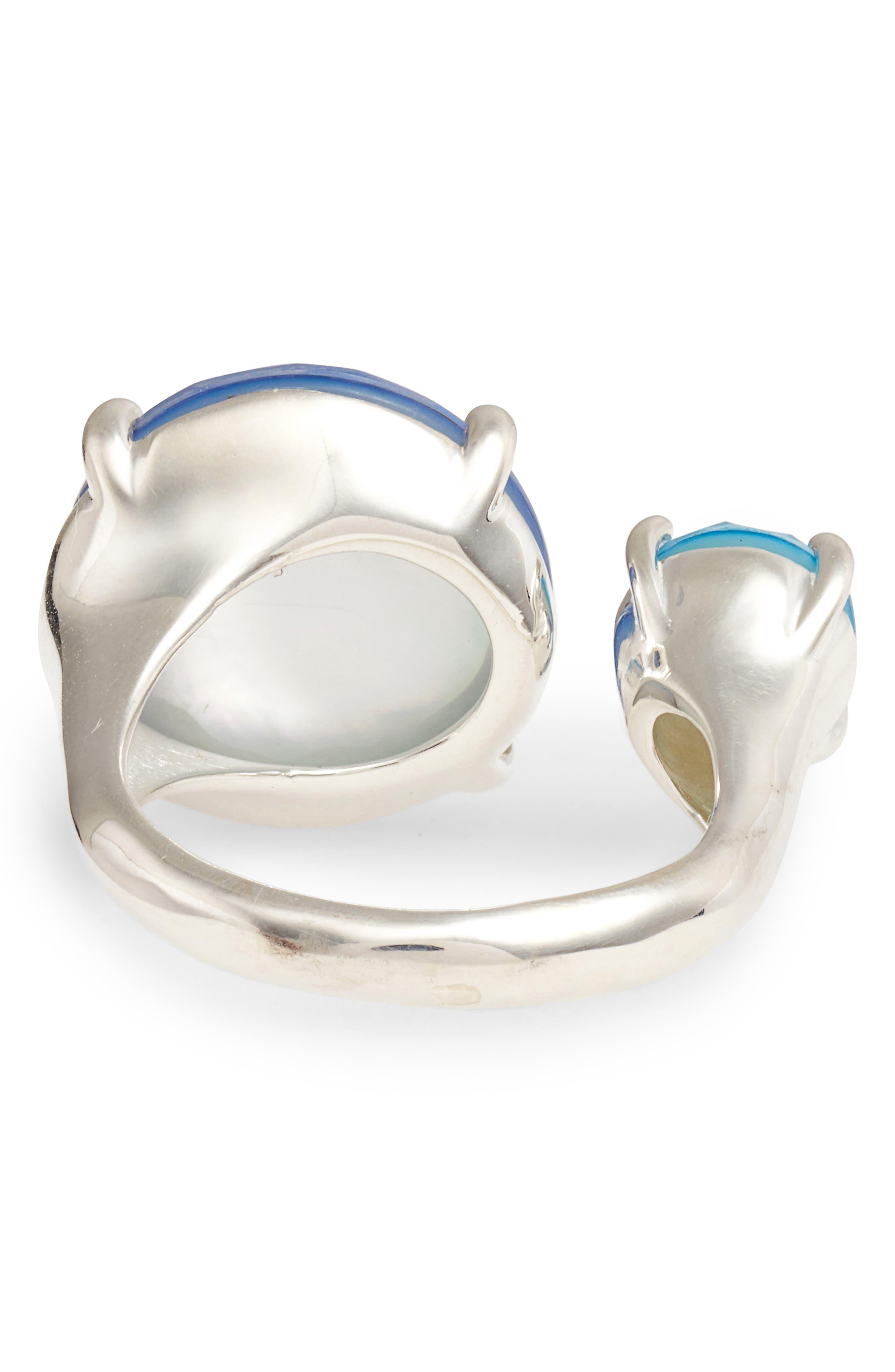 Wonderland Stone Ring,                             Alternate thumbnail 3, color,                             Blue