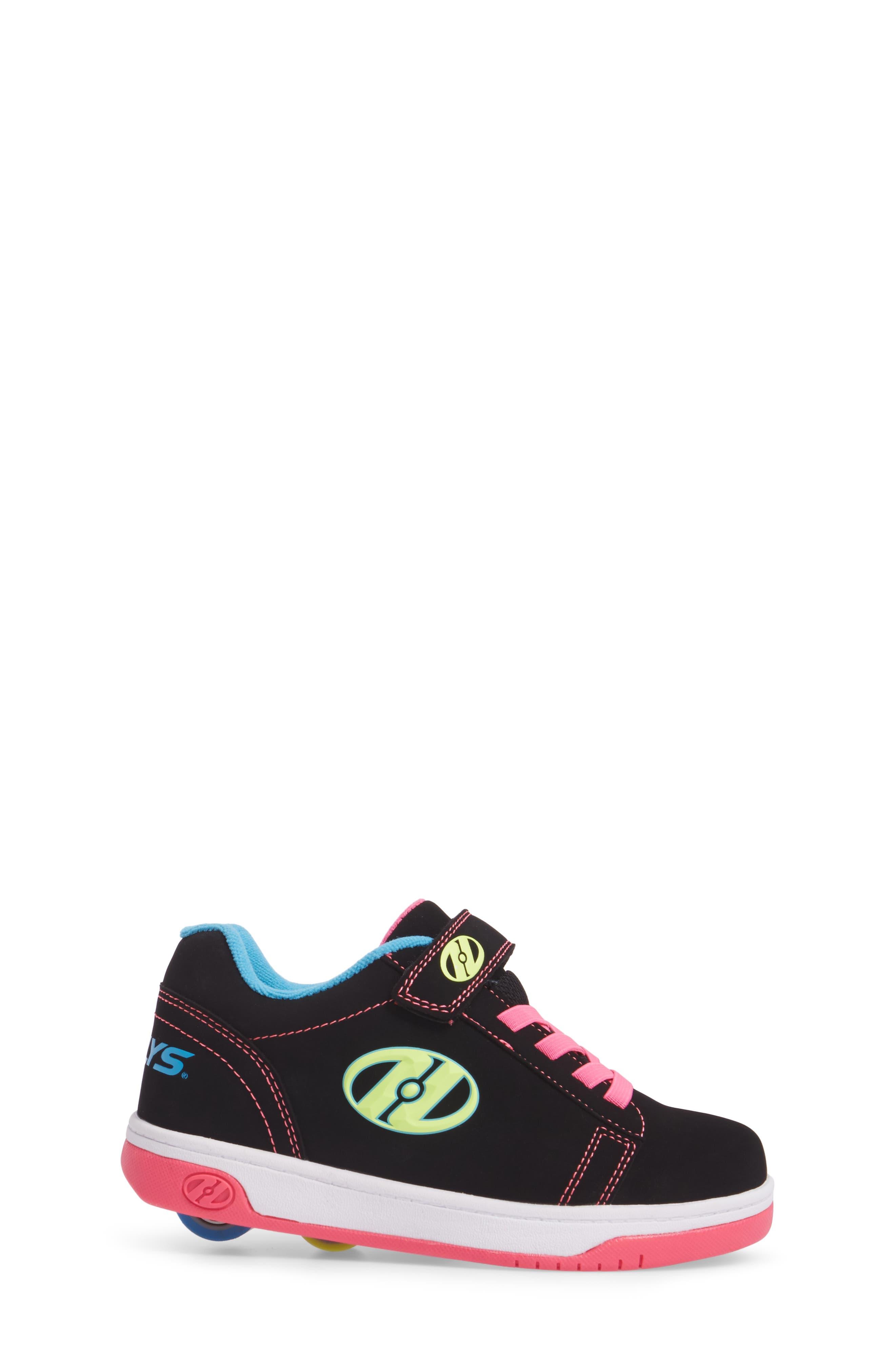 Dual Up Wheeled Skate Sneaker,                             Alternate thumbnail 3, color,                             Black/ Neon Multi