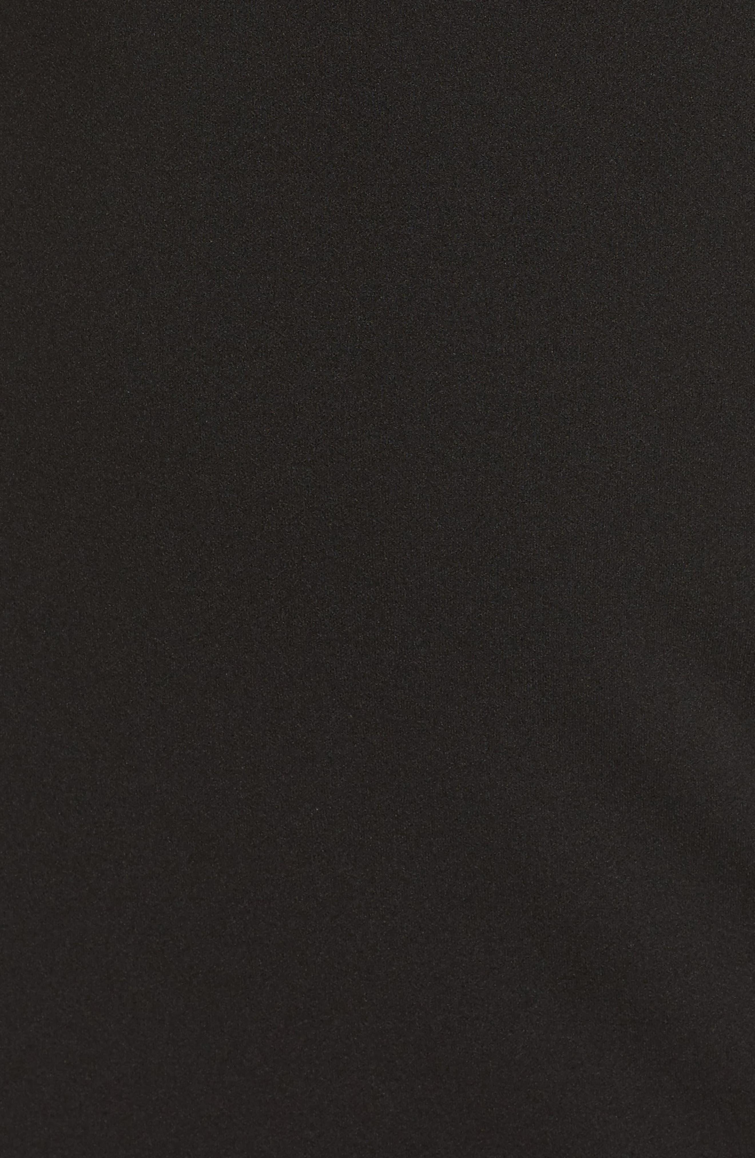 V-Neck Trumpet Gown,                             Alternate thumbnail 5, color,                             Black