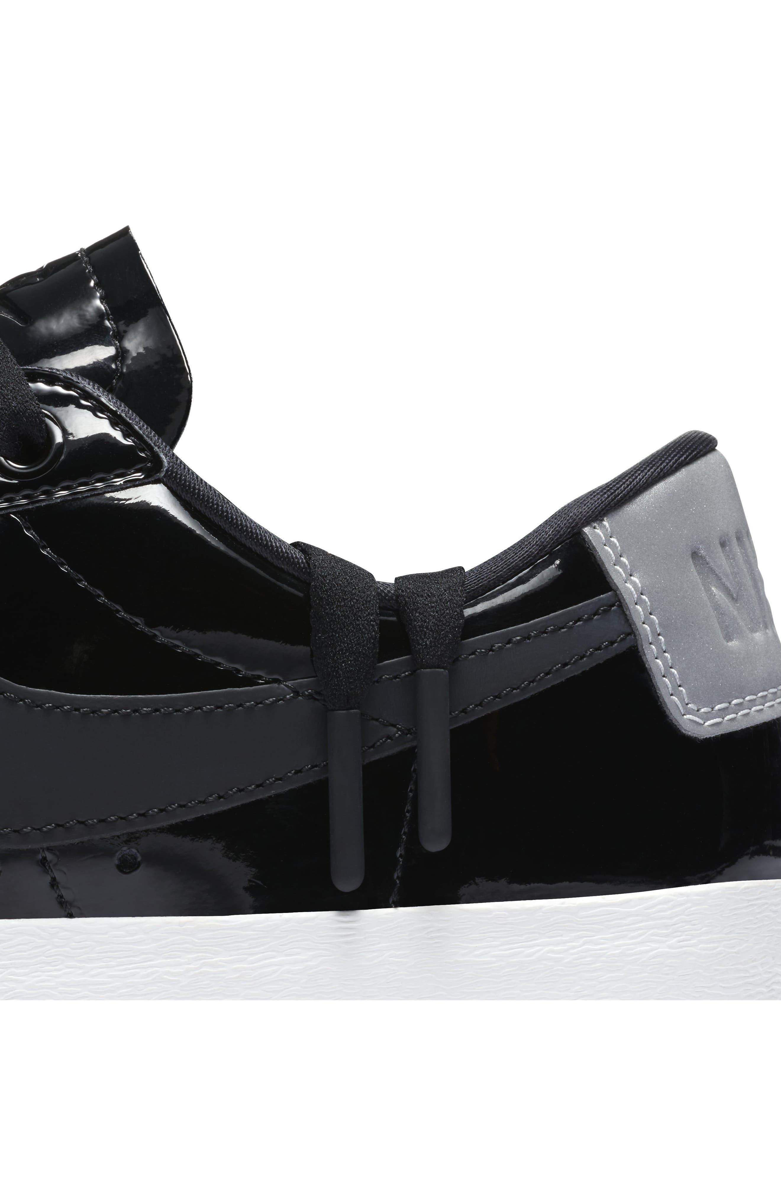 Blazer Low Top Sneaker SE,                             Alternate thumbnail 7, color,                             Black/ Black Reflect Silver
