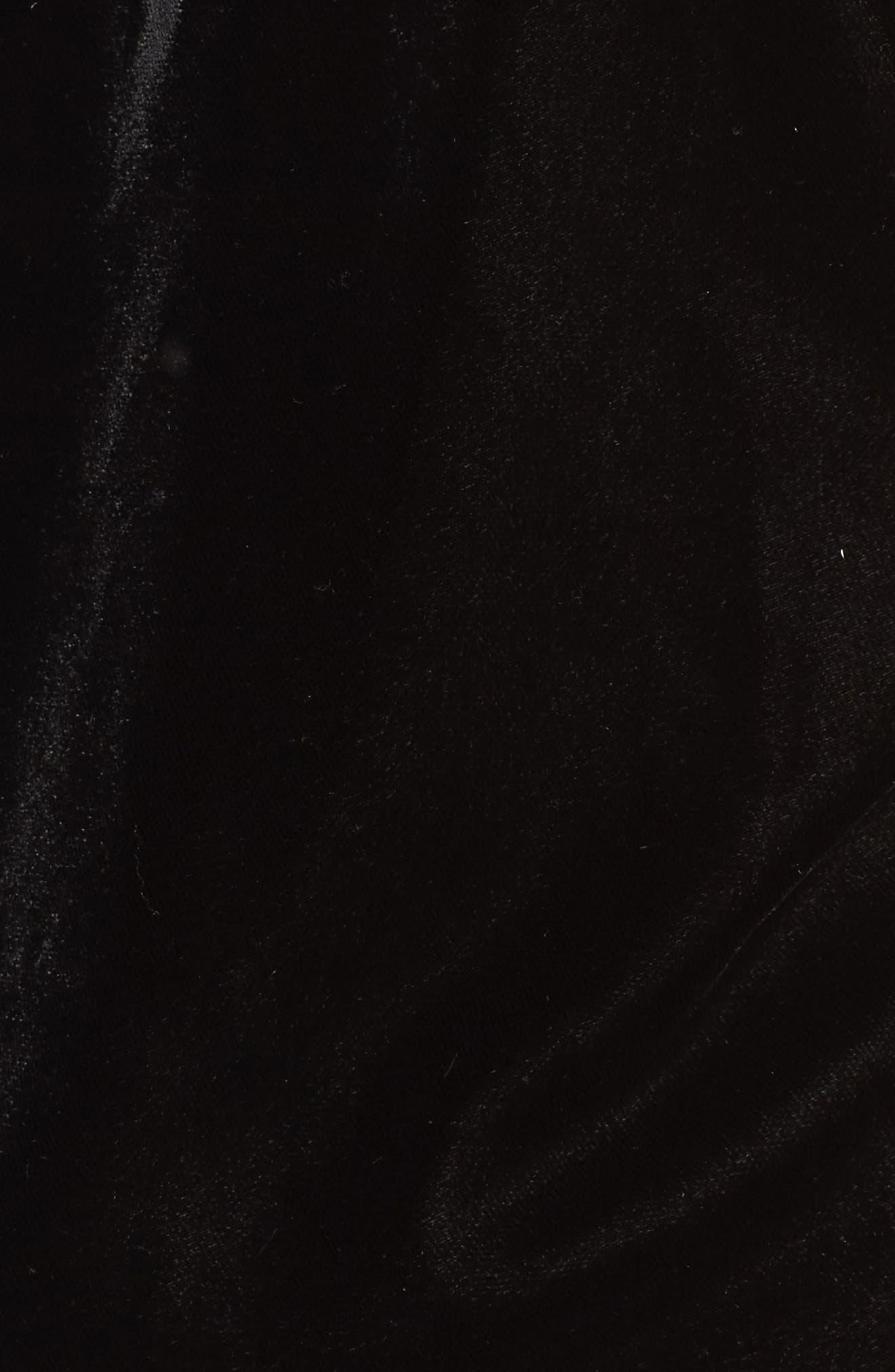 Henni Lace & Velvet Camisole,                             Alternate thumbnail 6, color,                             Black