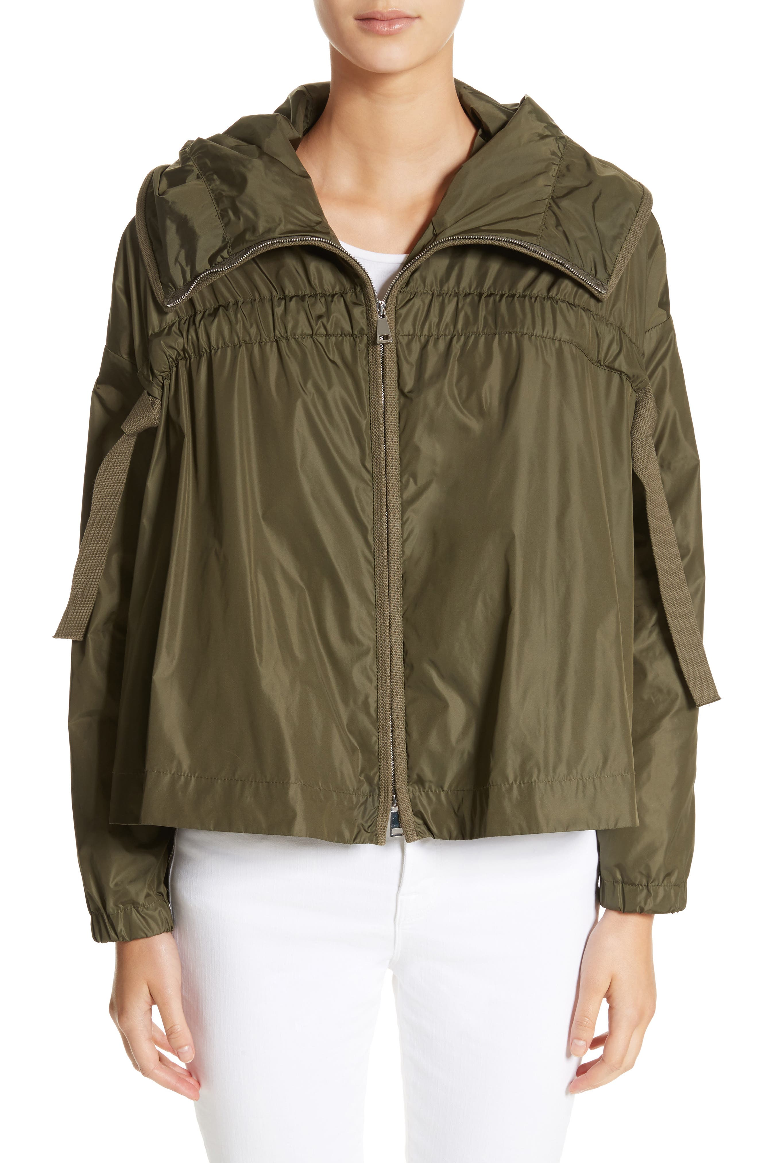 Lune Water Resistant Swing Jacket,                             Main thumbnail 1, color,                             Olive