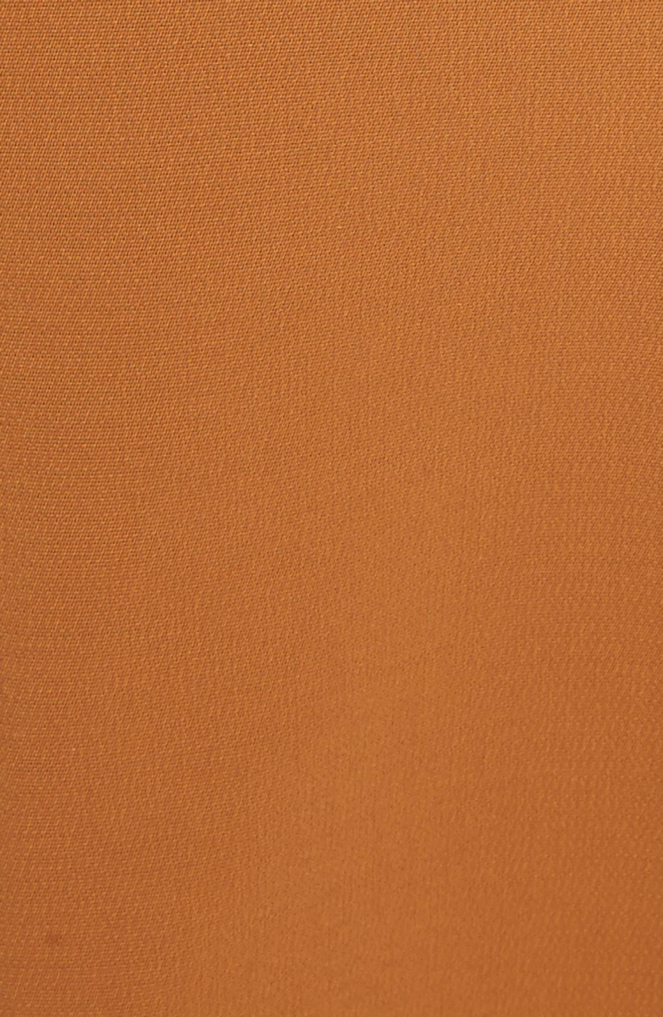 Sander Buckle Strap Midi Dress,                             Alternate thumbnail 5, color,                             Gold