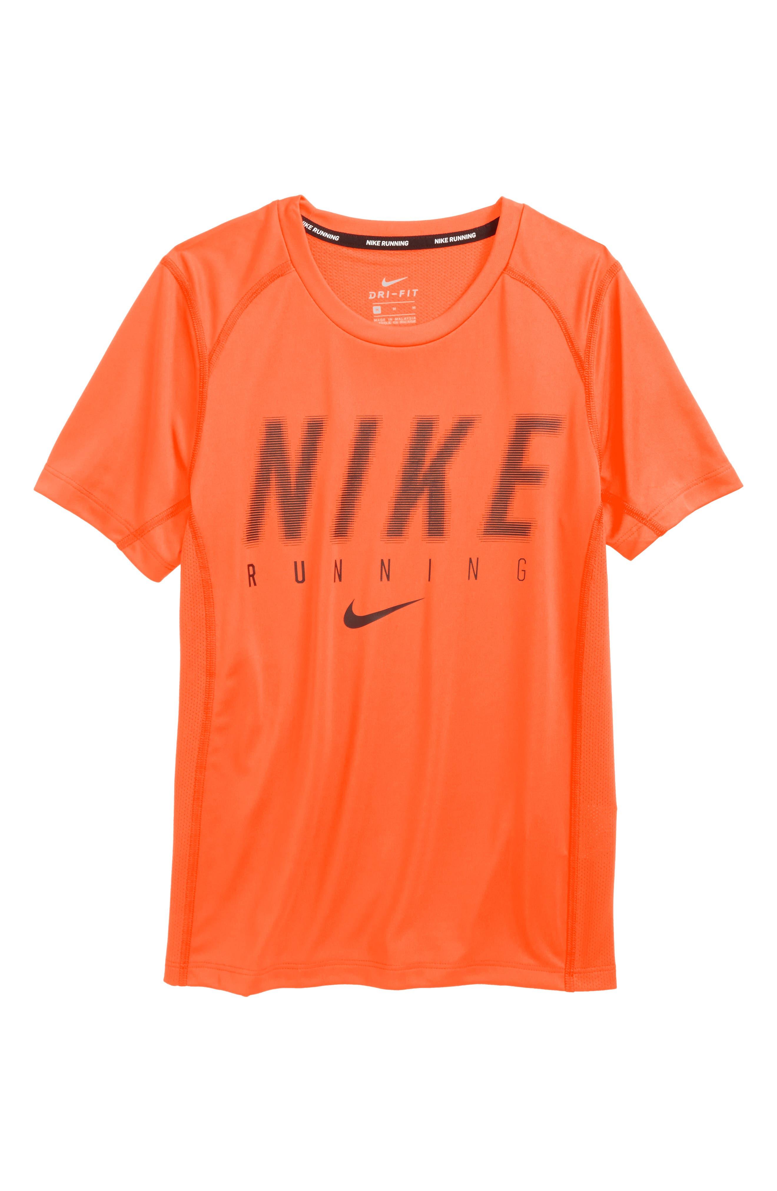 Dry Miler T-Shirt,                         Main,                         color, Orange