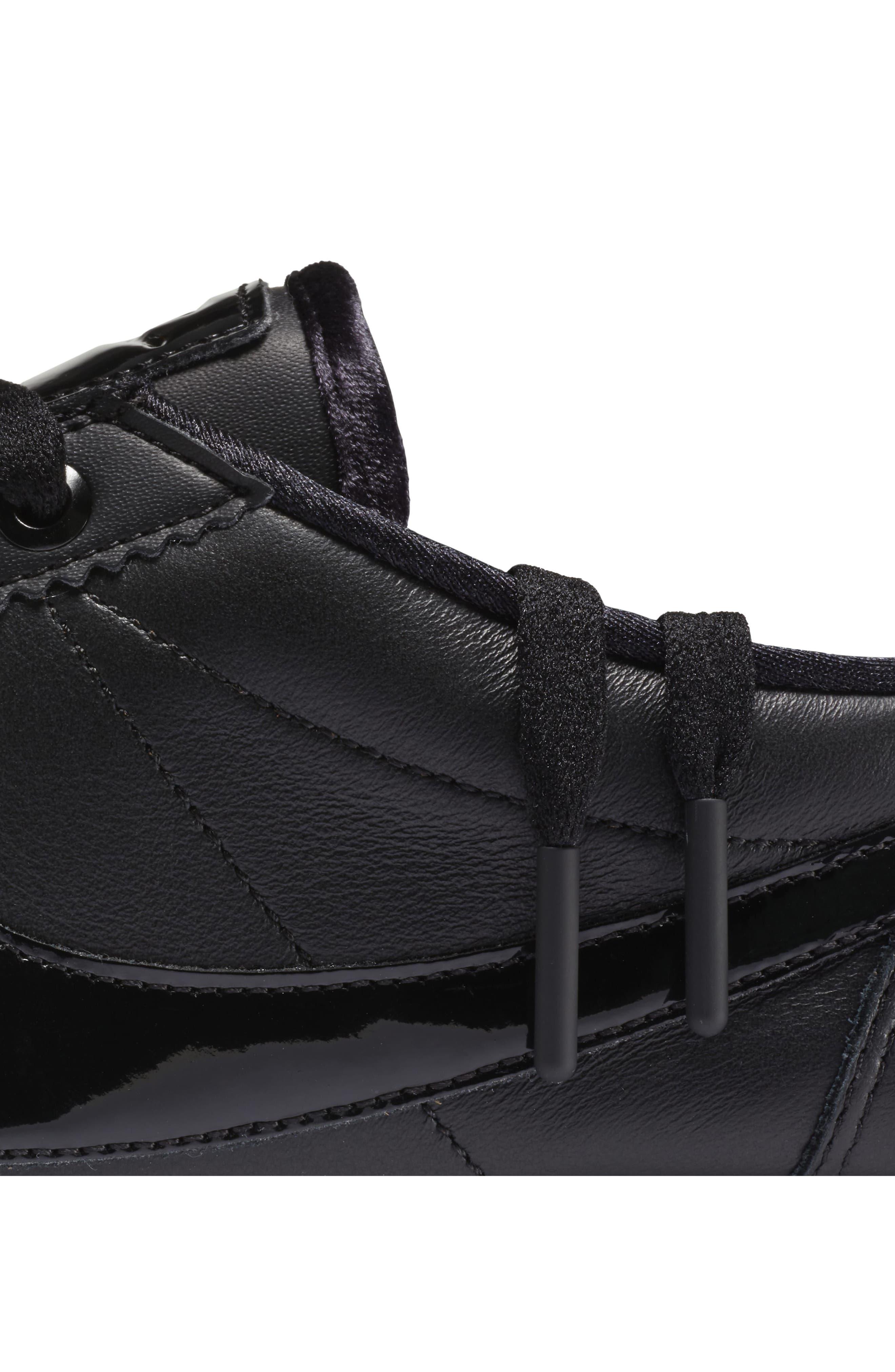 Classic Cortez SE Premium Sneaker,                             Alternate thumbnail 7, color,                             Black/ Black Reflect Silver