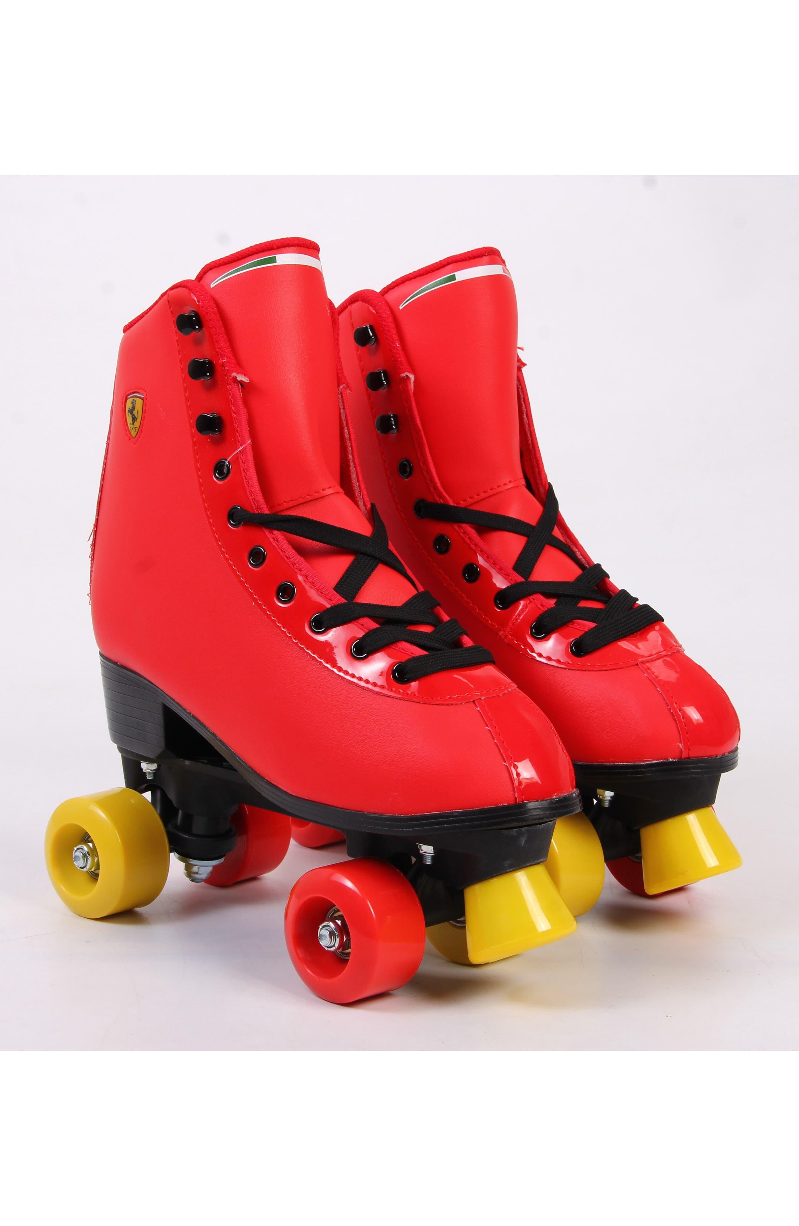 Classic Roller Skates,                             Alternate thumbnail 5, color,                             Ferrari Red