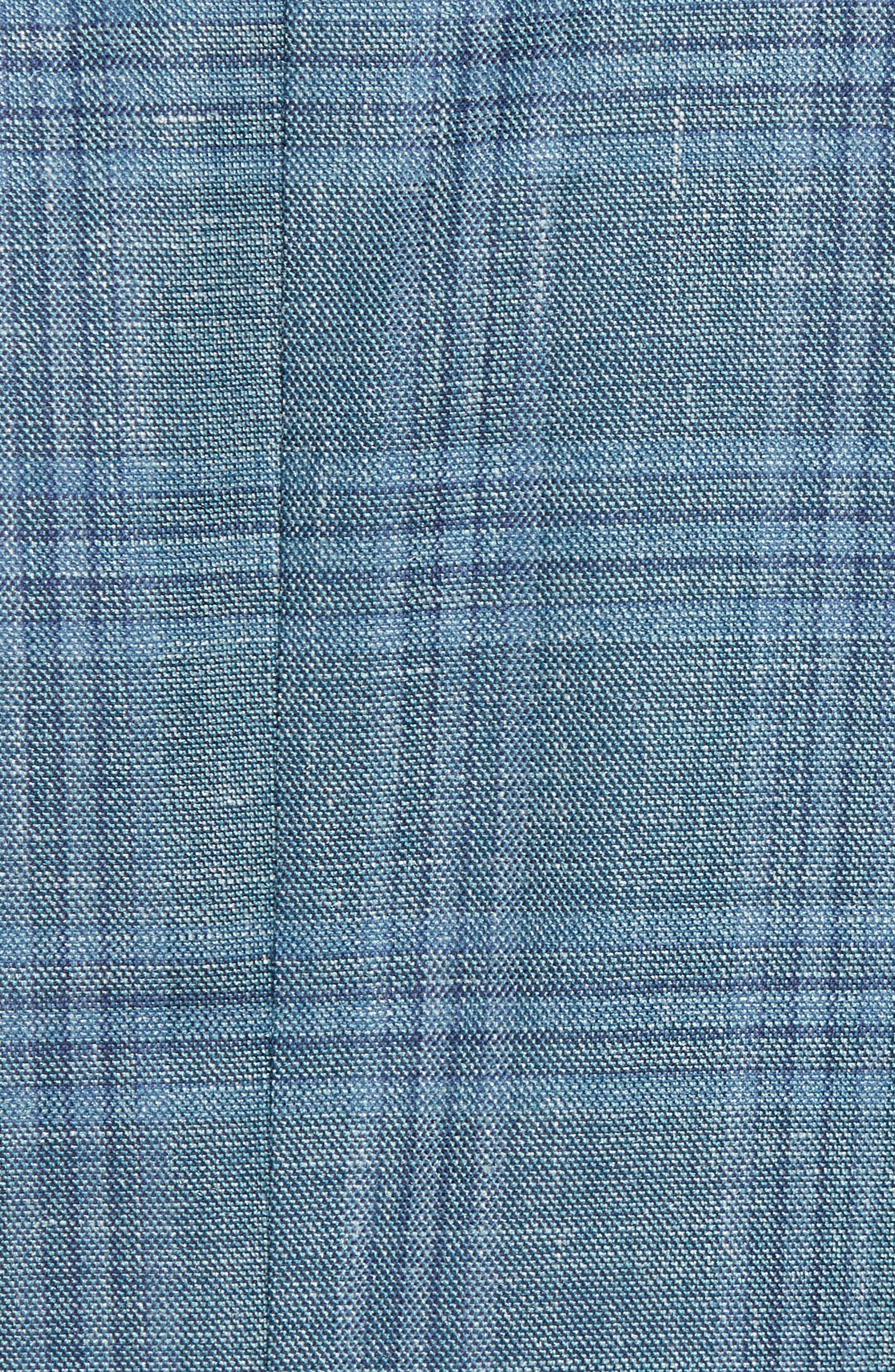 Ashton Classic Fit Stretch Plaid Wool Blend Sport Coat,                             Alternate thumbnail 5, color,                             Green