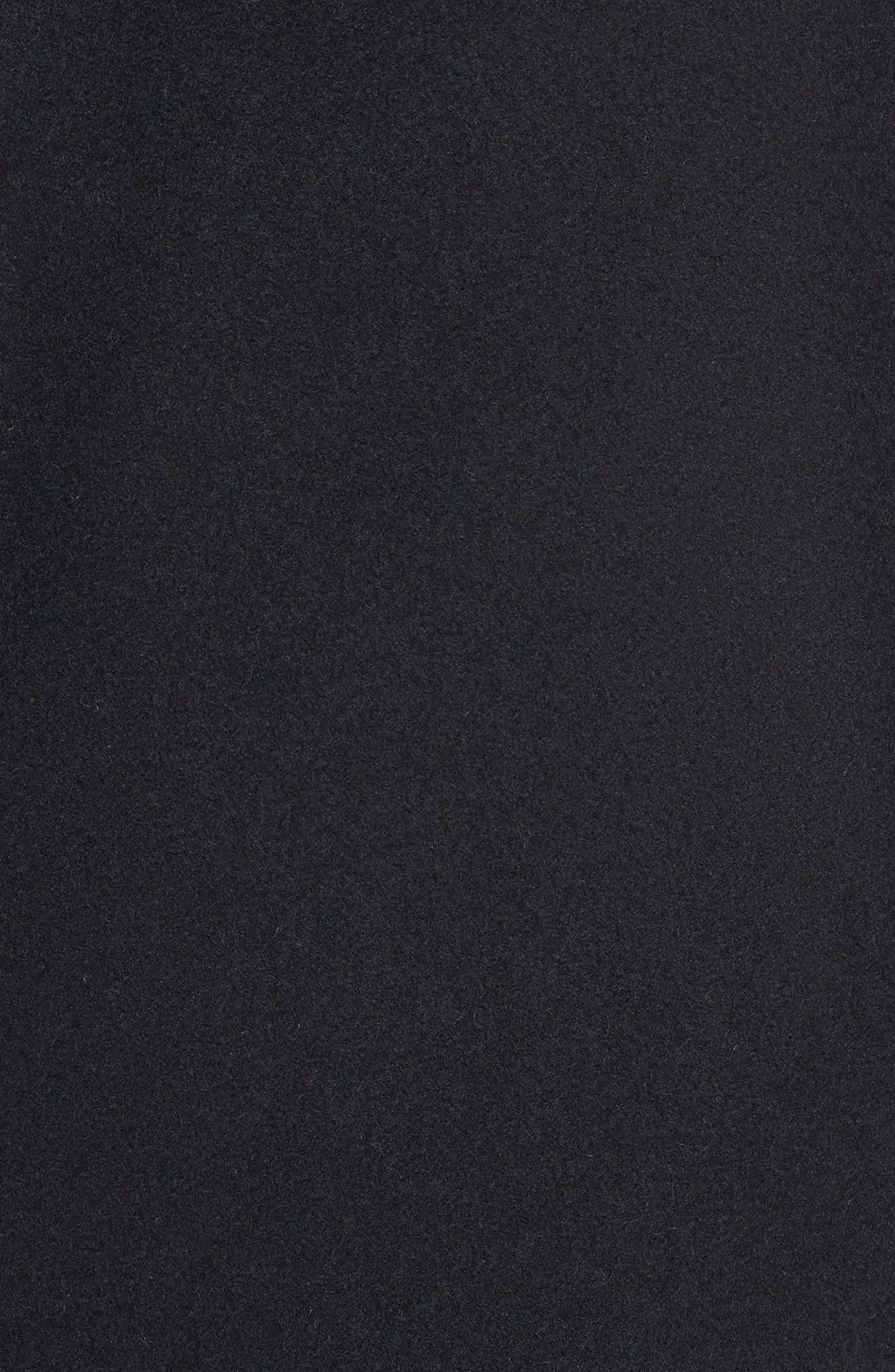 Walsh Wool Blend Topcoat,                             Alternate thumbnail 5, color,                             Black