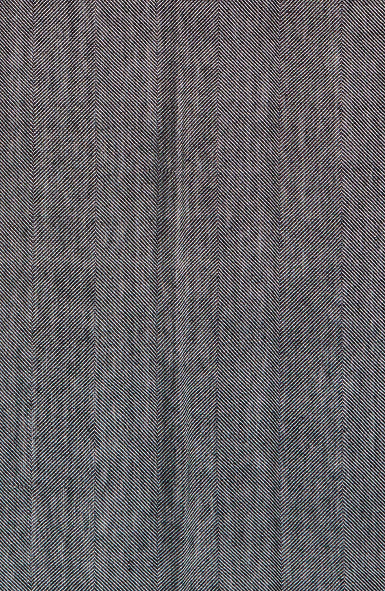 Woven Stripe Scarf,                             Alternate thumbnail 4, color,                             Black