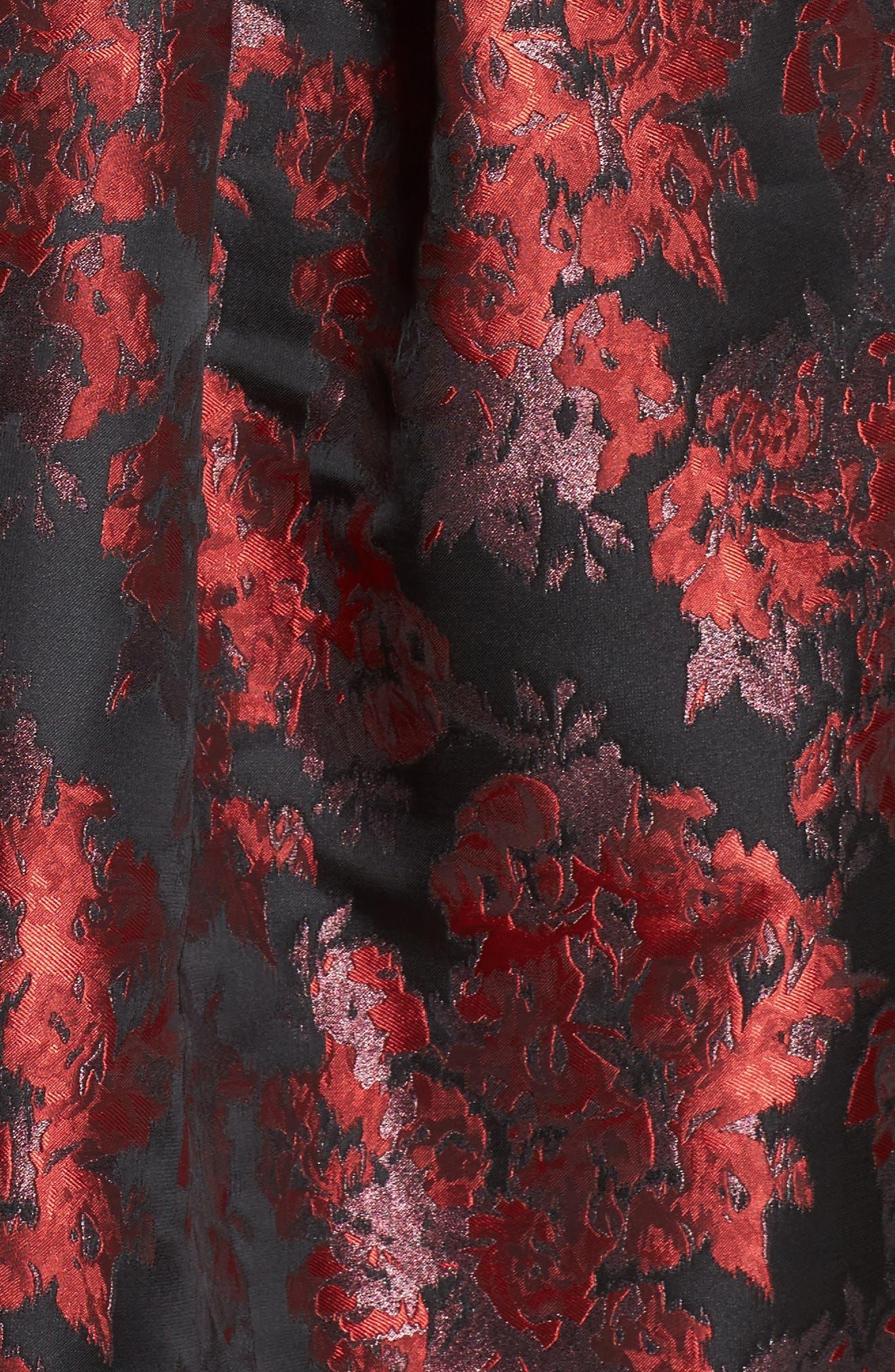 Alternate Image 5  - Eliza J Sleeveless Jacquard High/Low Dress (Plus Size)