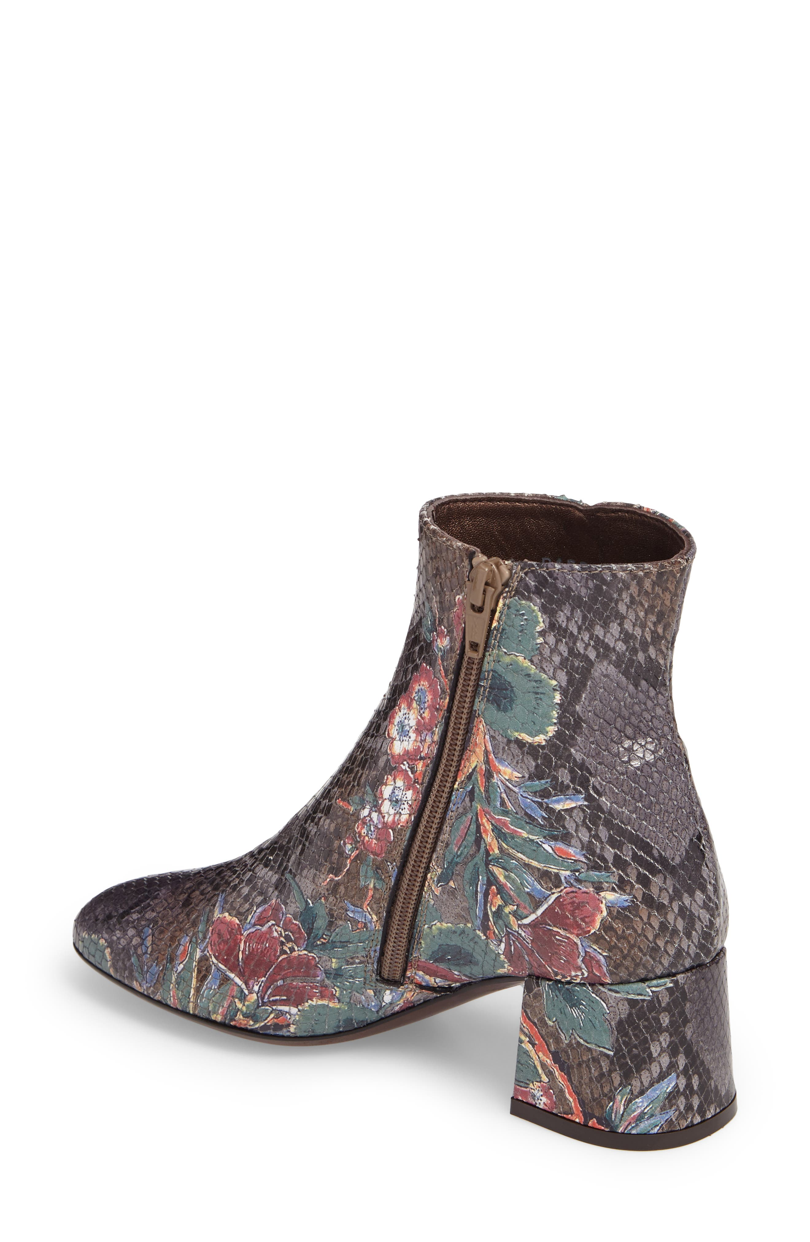 Cocorito Block Heel Bootie,                             Alternate thumbnail 2, color,                             Marble Taupe Leather