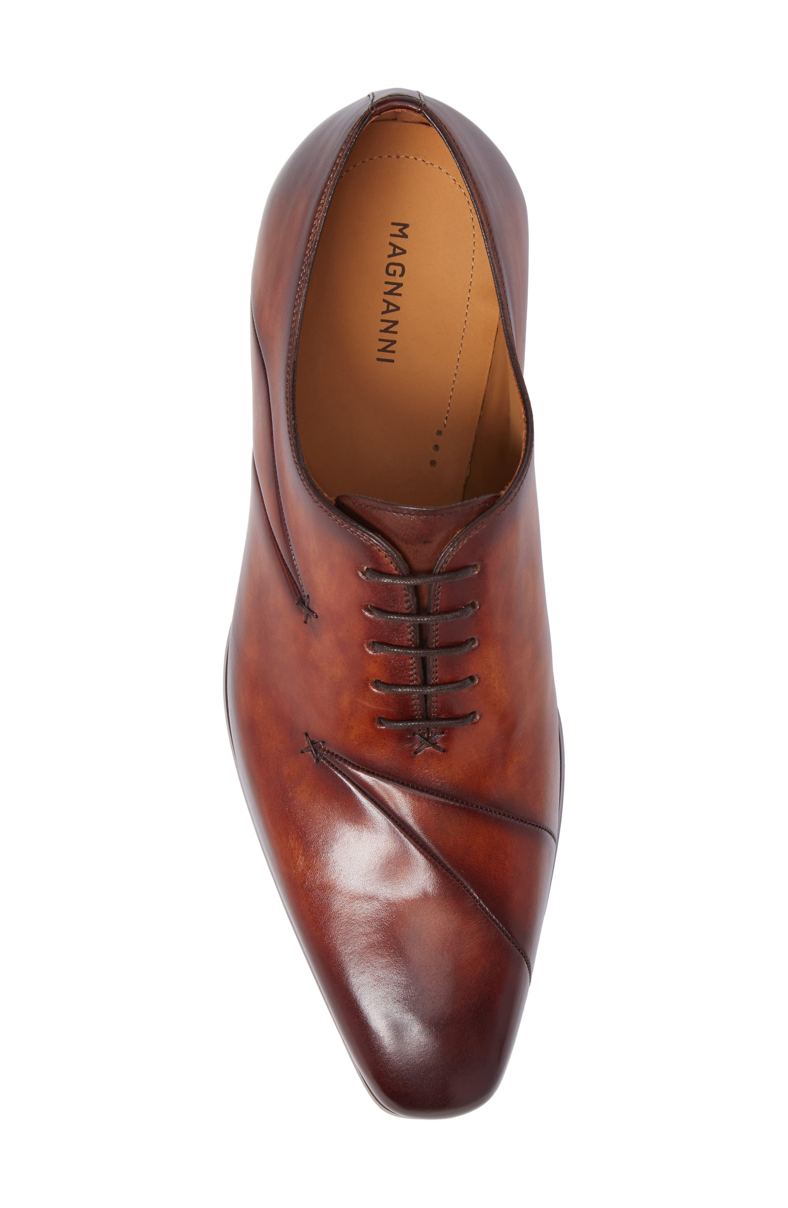 Marquez Stitched Oxford,                             Alternate thumbnail 5, color,                             Cognac Leather